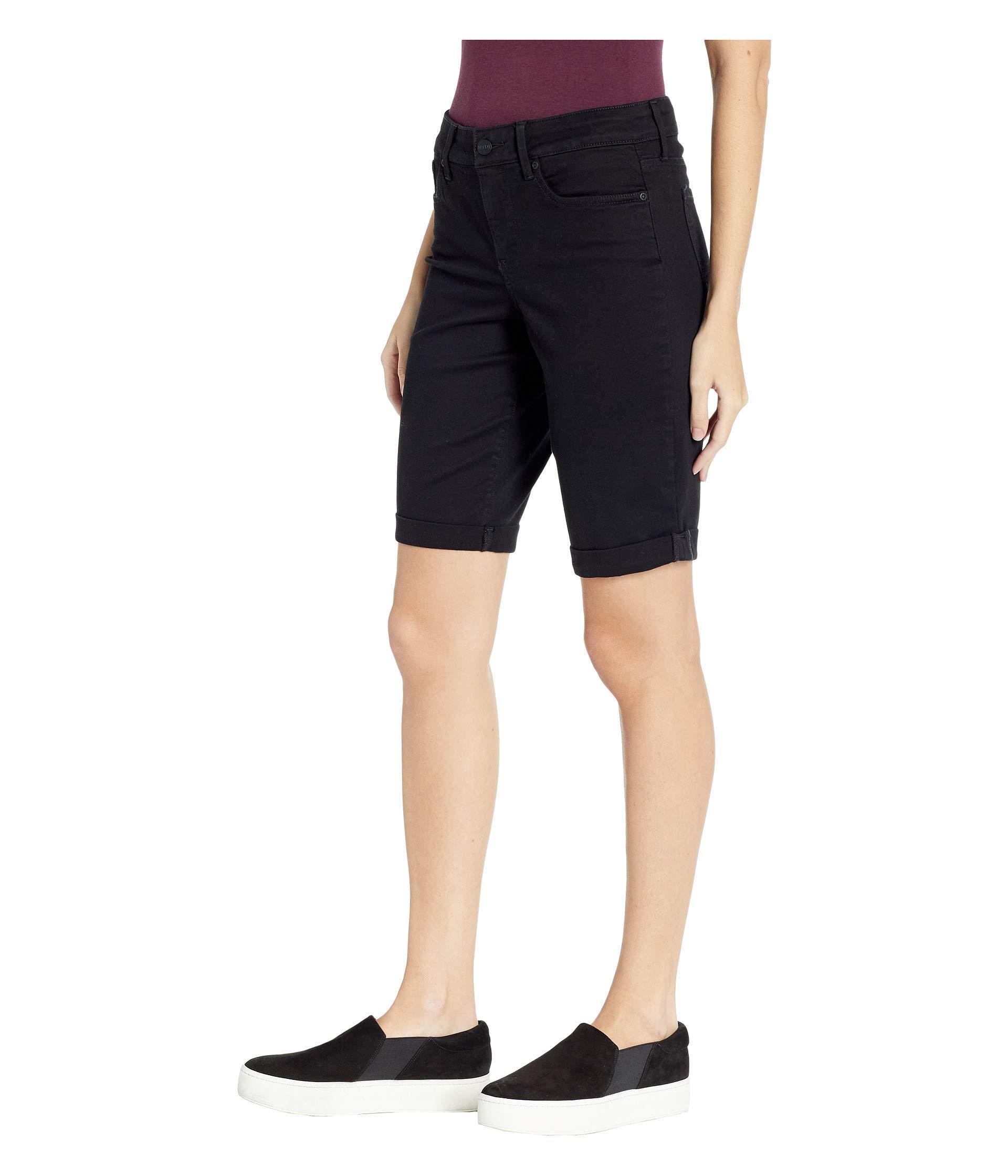 bc8b965c2d Lyst - NYDJ Briella Roll Cuff Shorts In Black (black) Women's Shorts in  Black