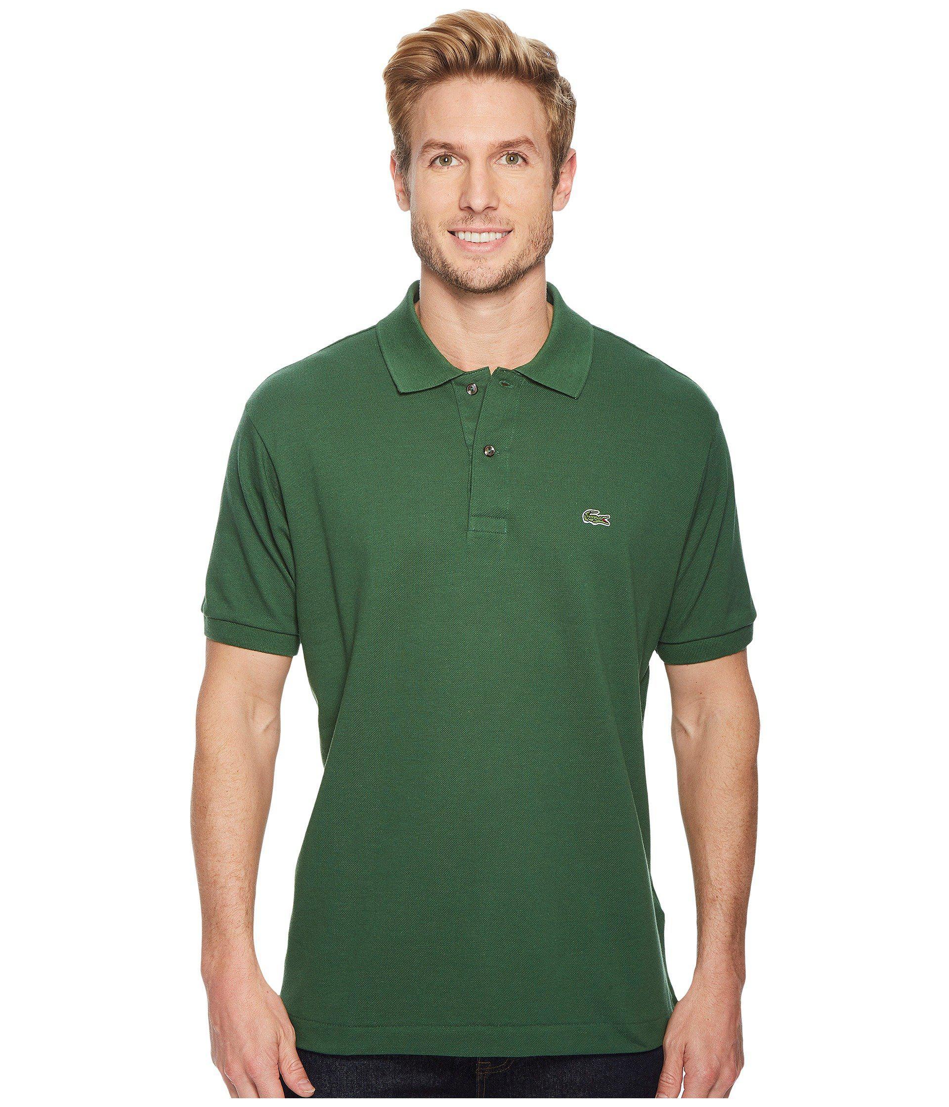 fe059335 Lyst - Lacoste Short Sleeve Classic Pique Polo Shirt (green) Men's ...