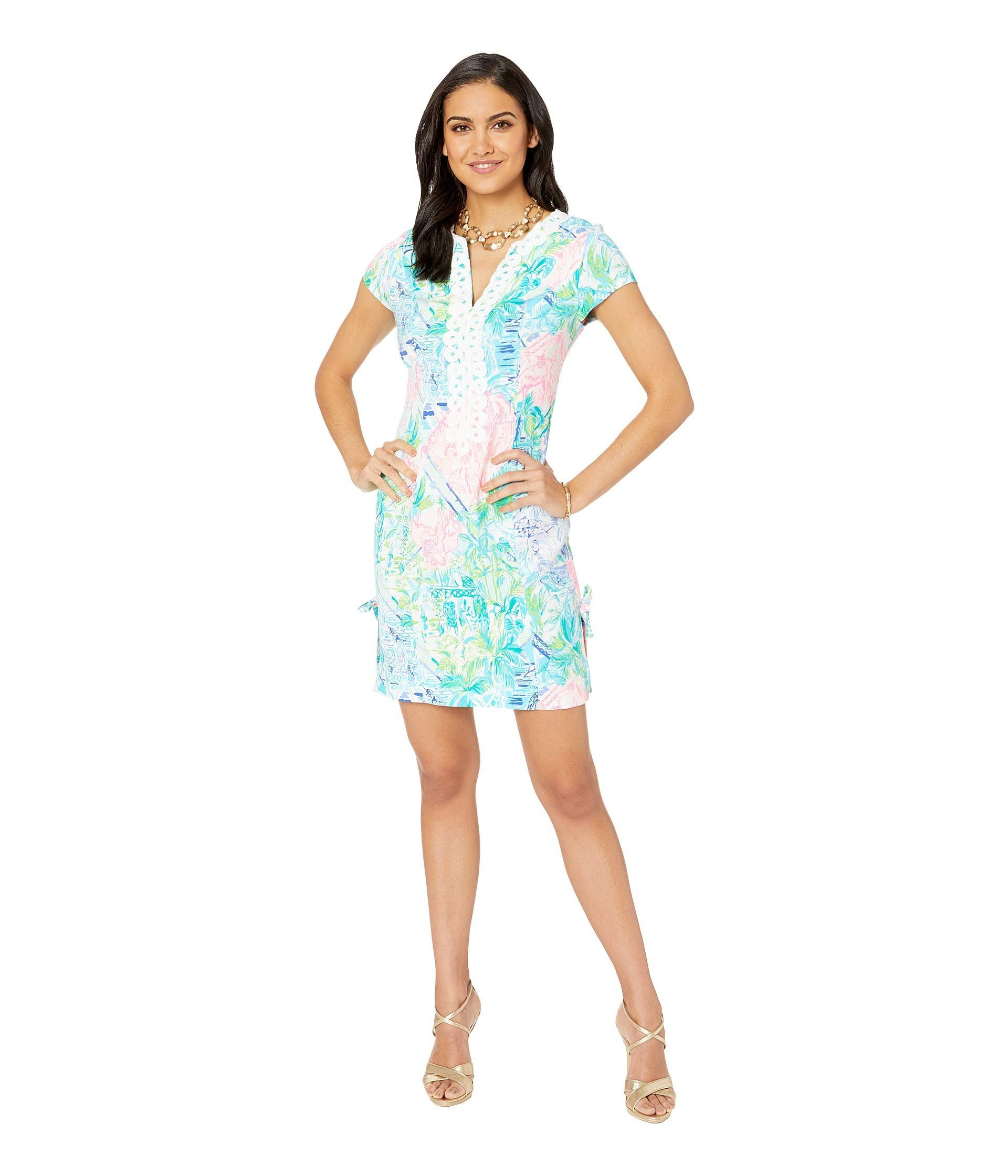 aeb0f482bf01a4 ... Lilly Pulitzer - Blue Casidy Stretch Shift Dress - Lyst · Visit Zappos.  Tap to visit site