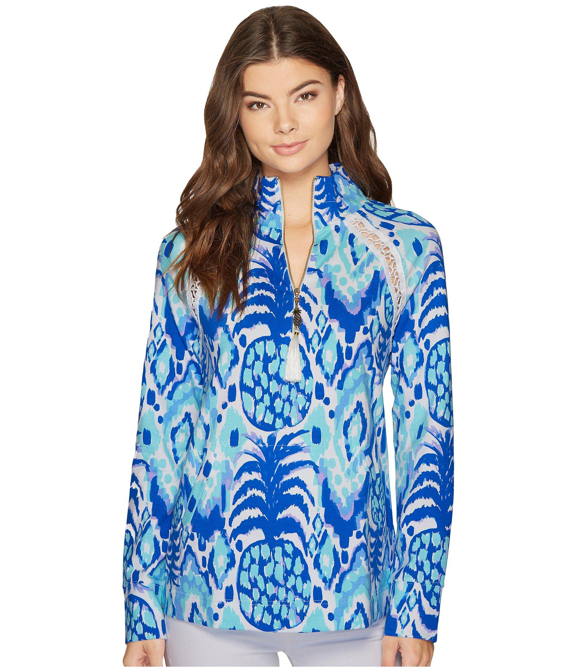 e0a51d7f20b Lyst - Lilly Pulitzer Skipper Popover (serene Blue Tropic Call Me ...
