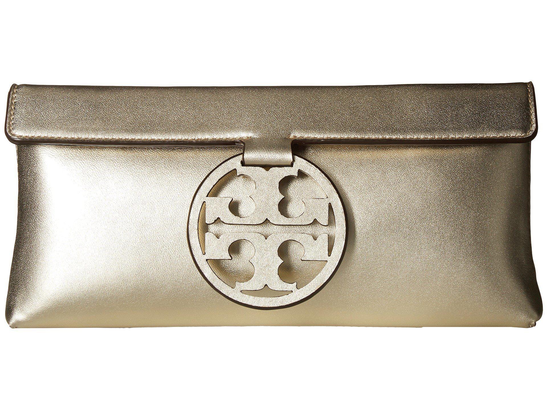 4ef8c9464d Tory Burch Miller Metallic Clutch (gold) Clutch Handbags in Metallic ...
