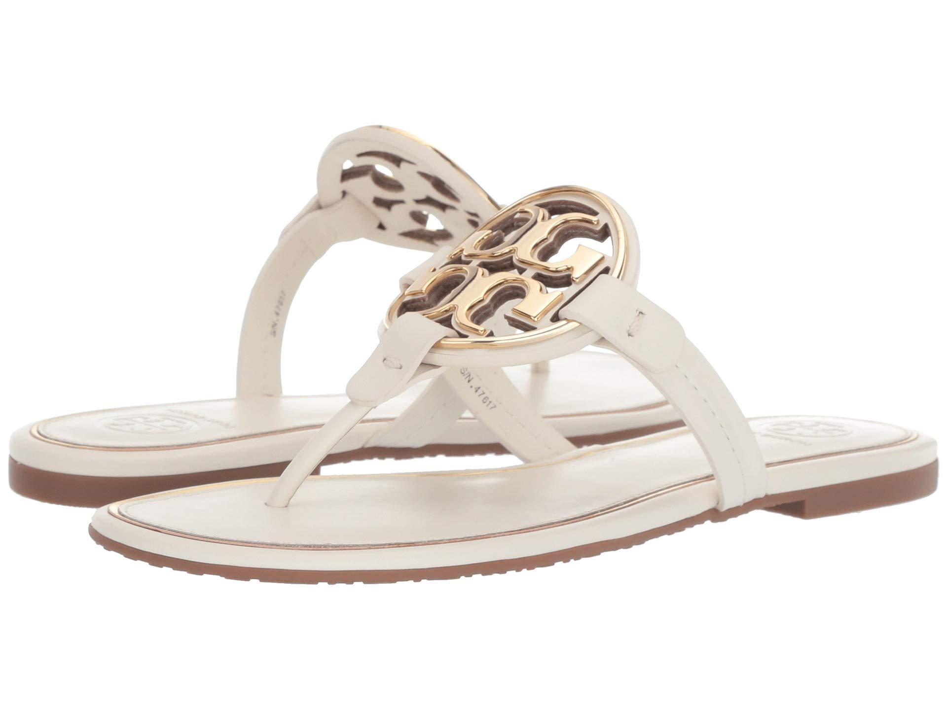 04555cc06243 Lyst - Tory Burch Metal Miller (brilliant Red gold) Women s Shoes in ...