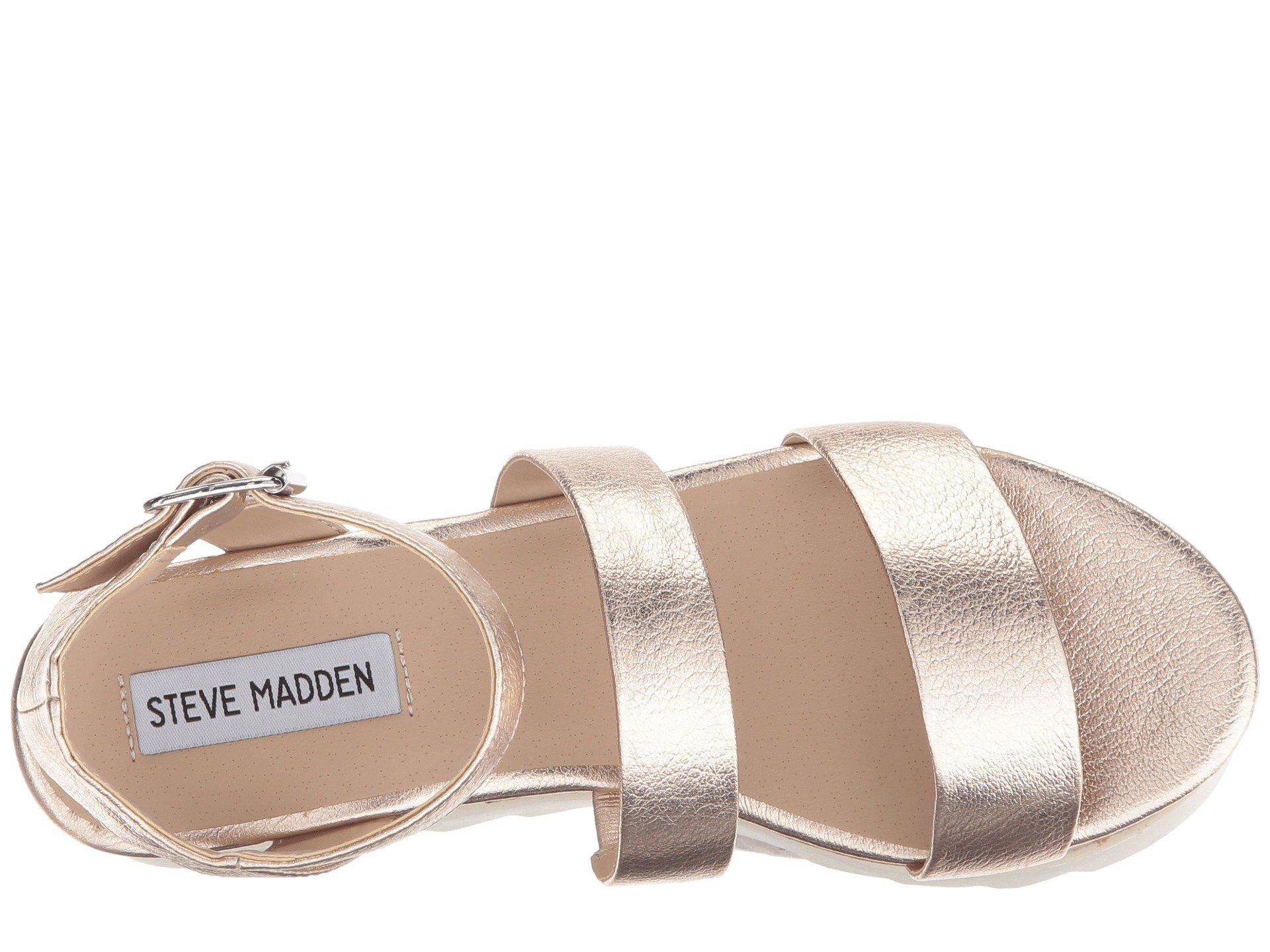 eca41d6eaa48 Steve Madden - Multicolor Kirsten Cork Platform Wedge Sandal (black Leather)  Women s Shoes -. View fullscreen