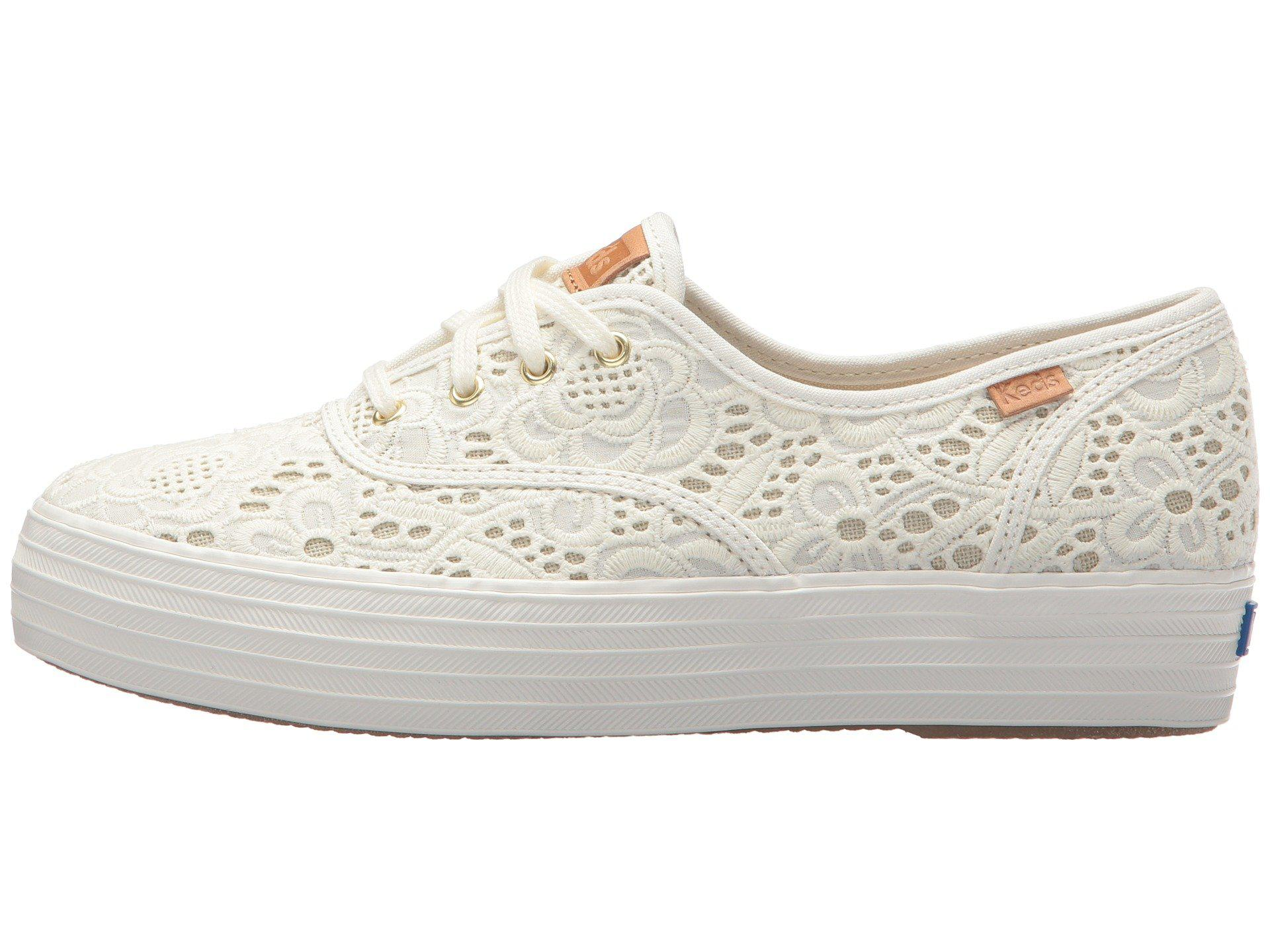 Keds Cotton Triple Embroidered Crochet