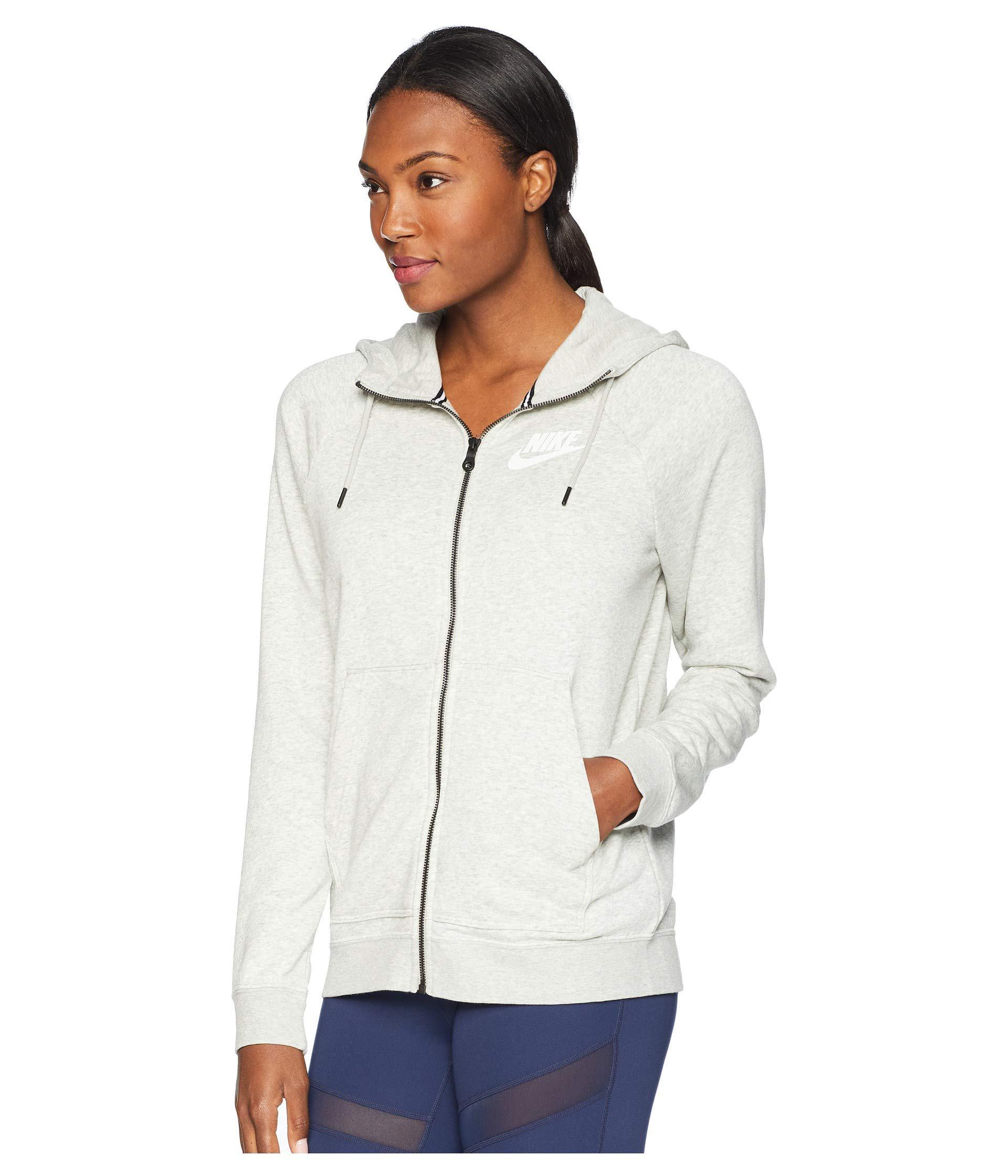 5f3a9262f999 Lyst - Nike Rally Hoodie Full Zip (black black white) Women s Sweatshirt in  Gray