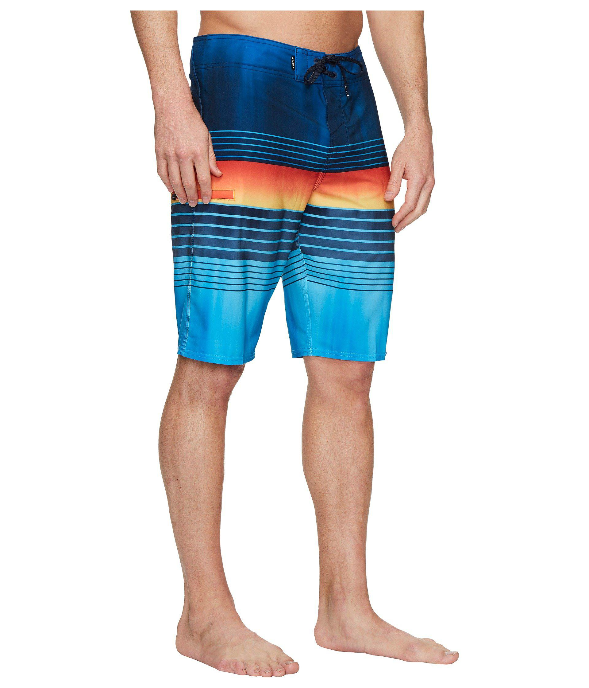 ONEILL Mens Water Resistant Hyperfreak Stretch Swim Boardshort Mid-Length Swimsuit 20 Inch Outseam