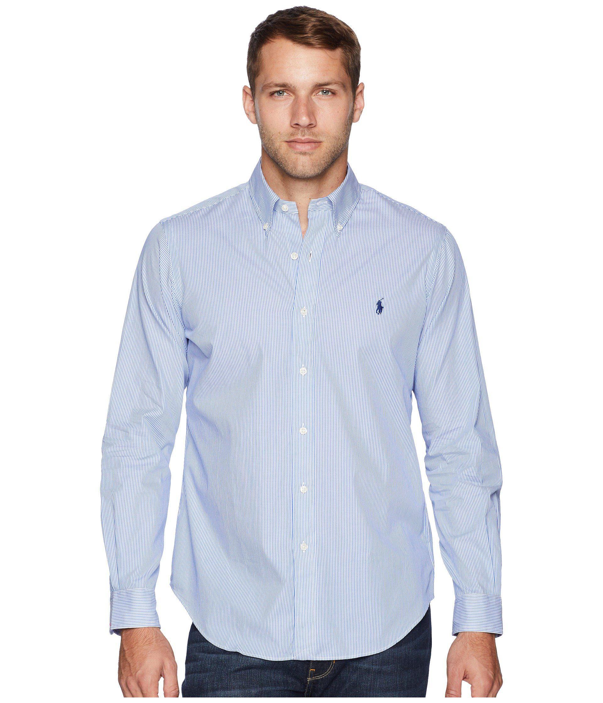 052cb03cb Polo Ralph Lauren Poplin Sport Shirt (polo Black) Men s Long Sleeve ...