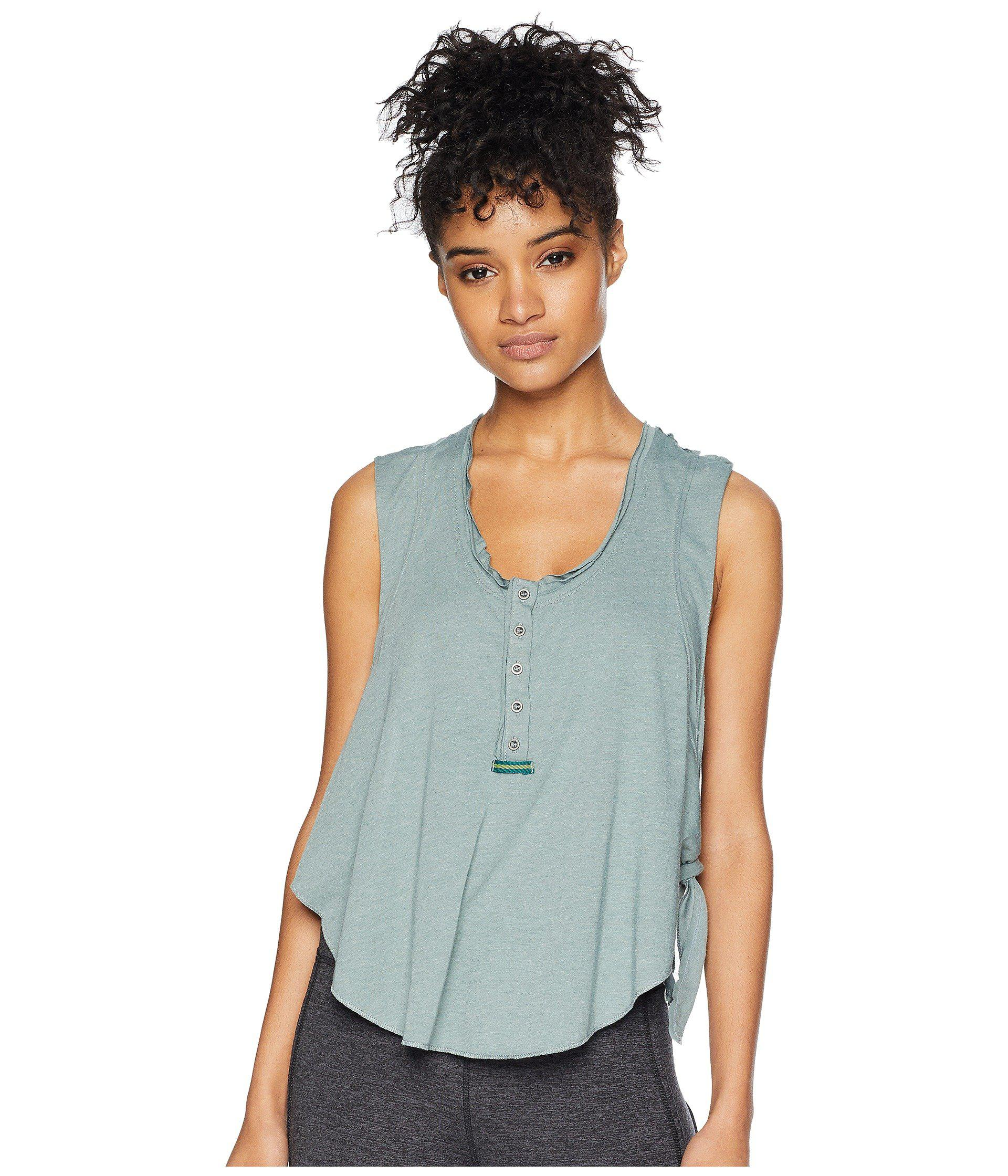 ccc42b3623 Free People High Tide Tank Top (white) Women's Clothing in Green - Lyst