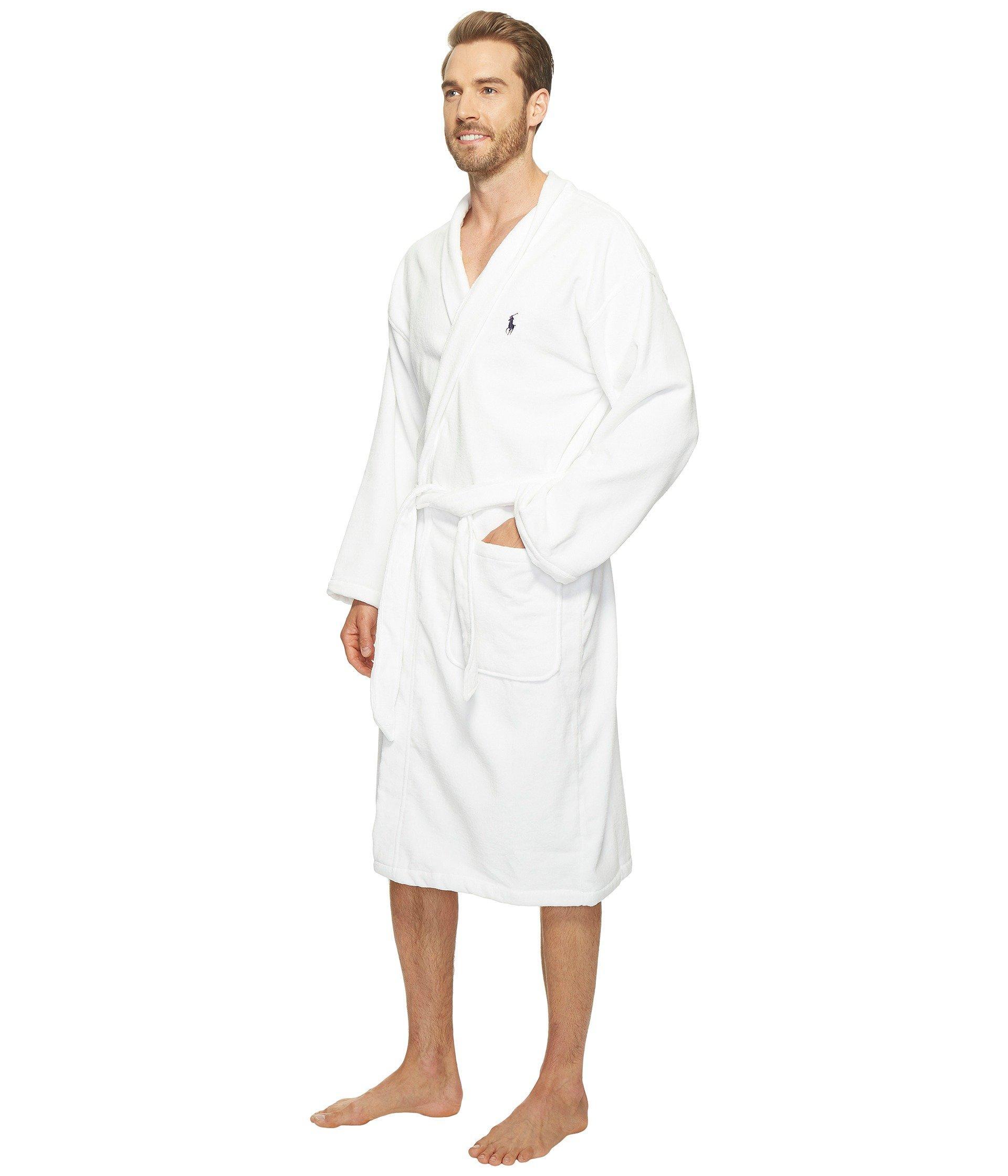 Lyst - Polo Ralph Lauren Terry Shawl Robe (white) Men s Robe in White for  Men d744ce4394f