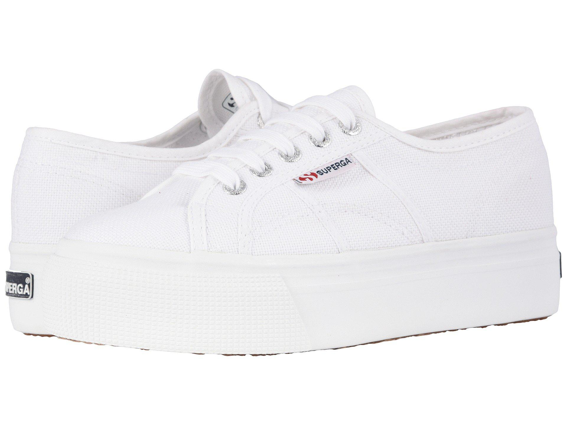 2b7d565e6b8 Superga - 2790 Acotw Platform Sneaker (white) Women s Lace Up Casual Shoes  - Lyst. View fullscreen