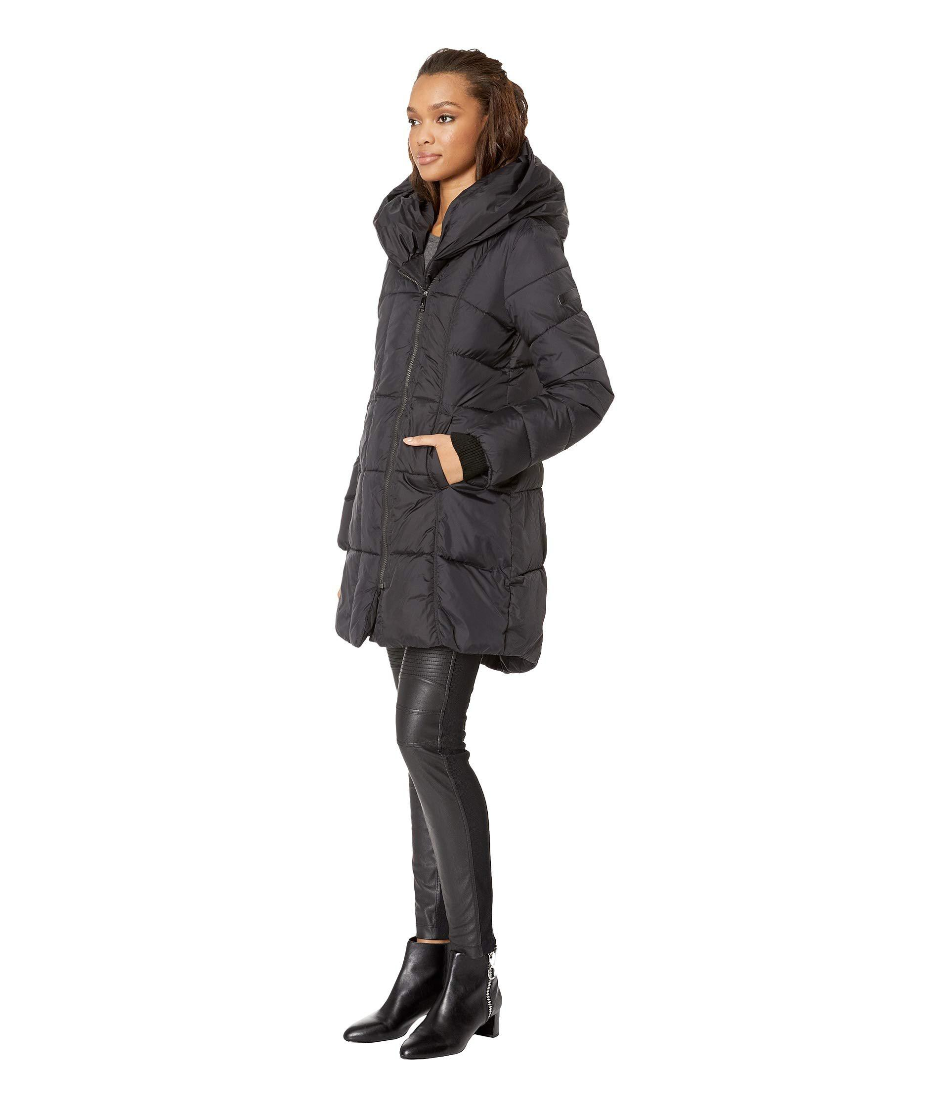 Lyst - Sam Edelman Pillow Collar Puffer Jacket (black) Women s Coat in Black  - Save 8% 59eac6e4cf