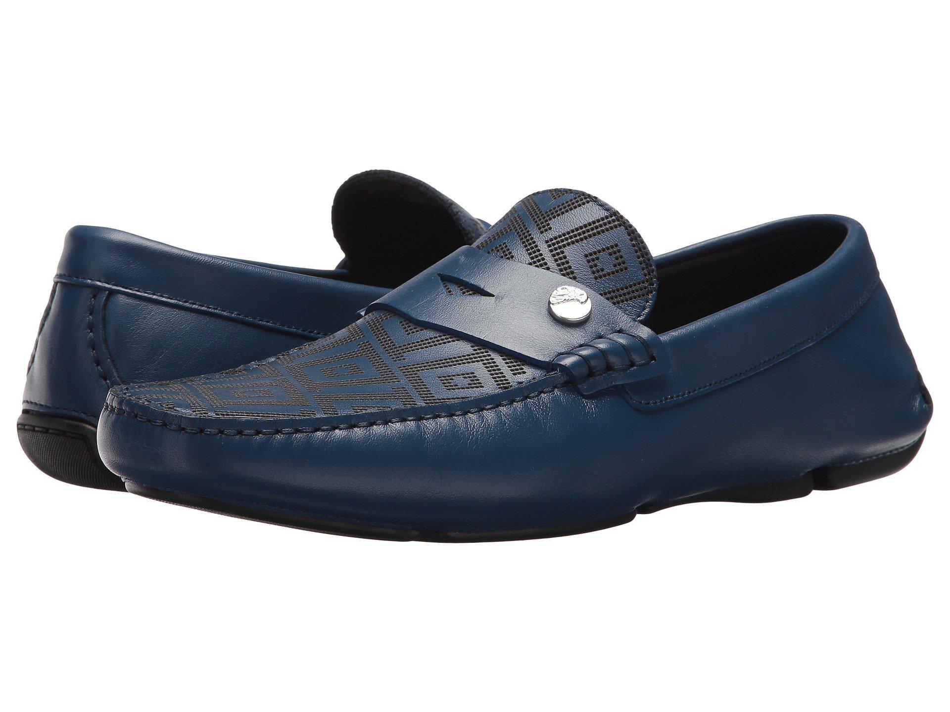 6b7c9010 Greca Embossed Driving Loafer (blue) Men's Shoes