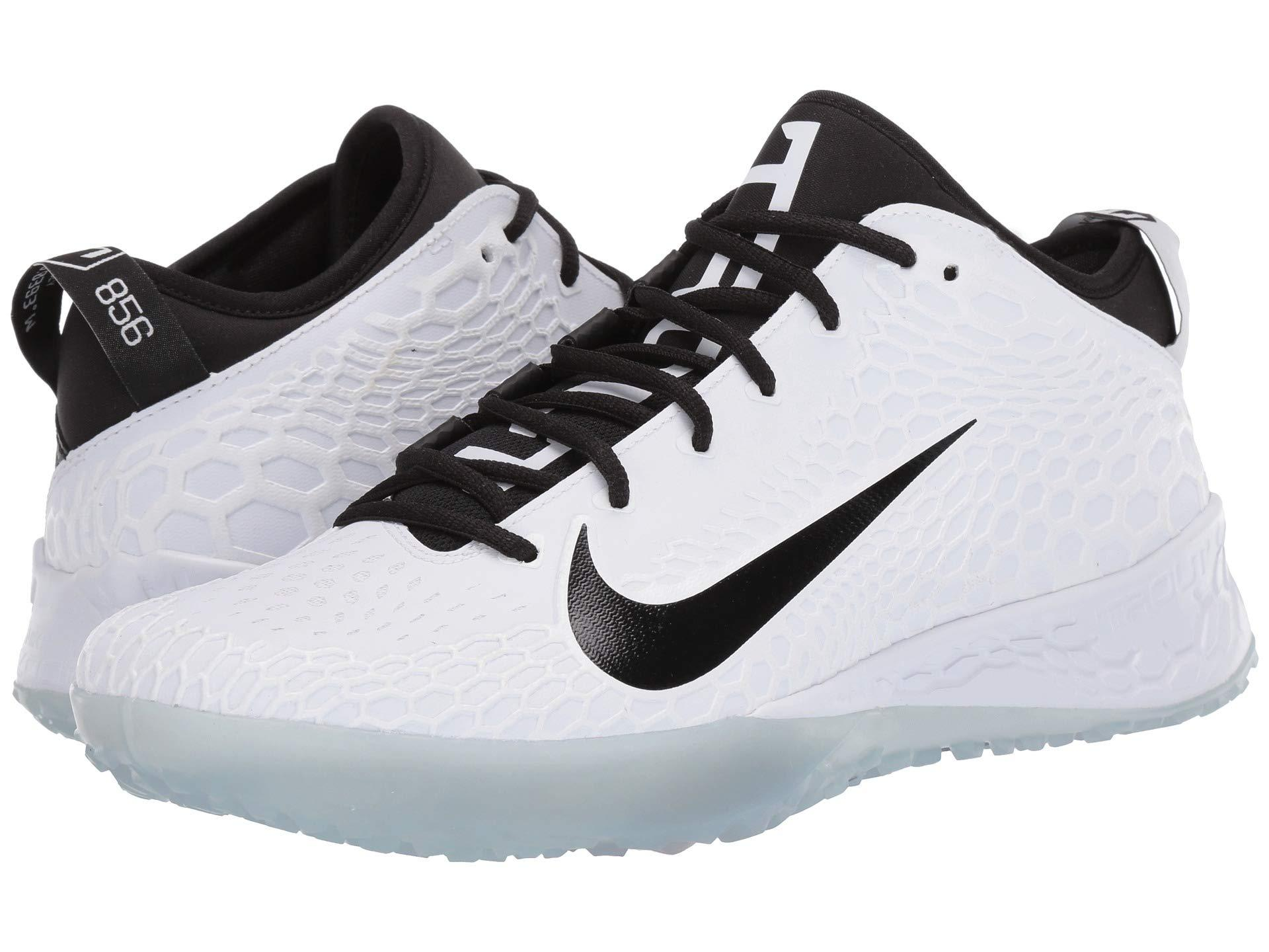 newest 785d7 3ab18 Nike. Force Zoom Trout 5 Turf (white black) Men s Cleated Shoes