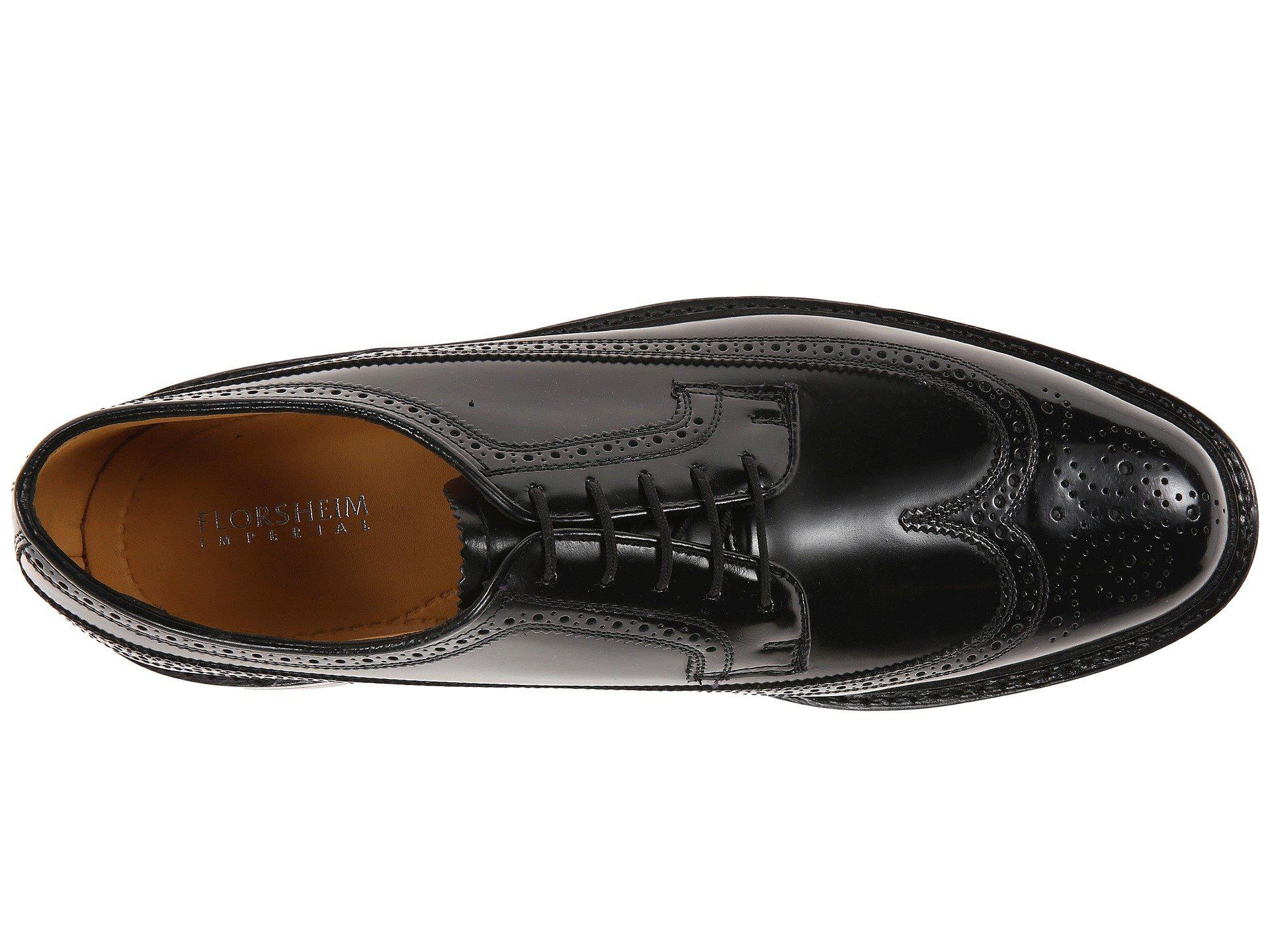 4776d24eae1 Florsheim - Kenmoor Wingtip Oxford (heritage Calf Black) Men s Lace Up Wing  Tip Shoes. View fullscreen