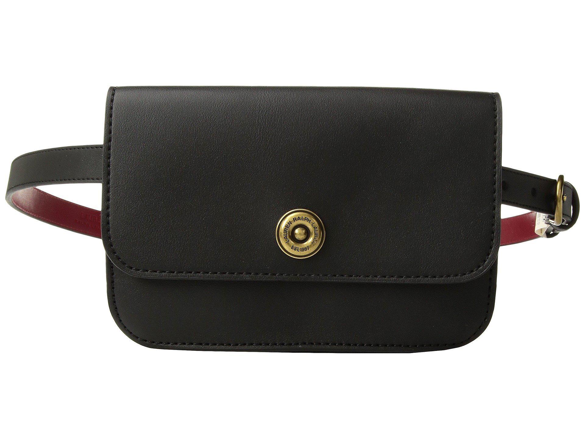 Lyst - Lauren by Ralph Lauren Millbrook Belt Bag in Black 4597f7e0246