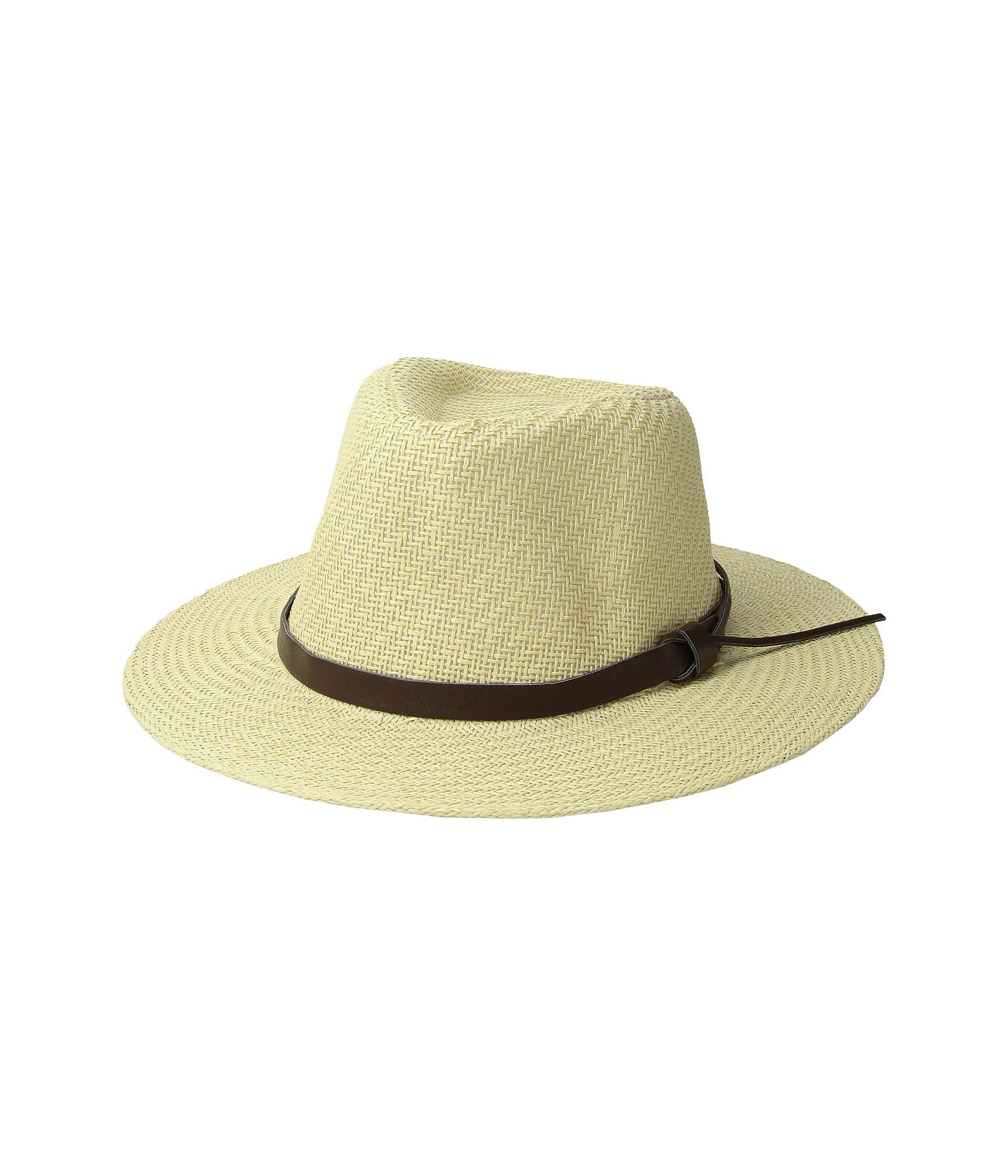 dbc9255aa9c San Diego Hat Company. Men s White Cut Sew Paper Fedora W  Faux Leather Band  ...