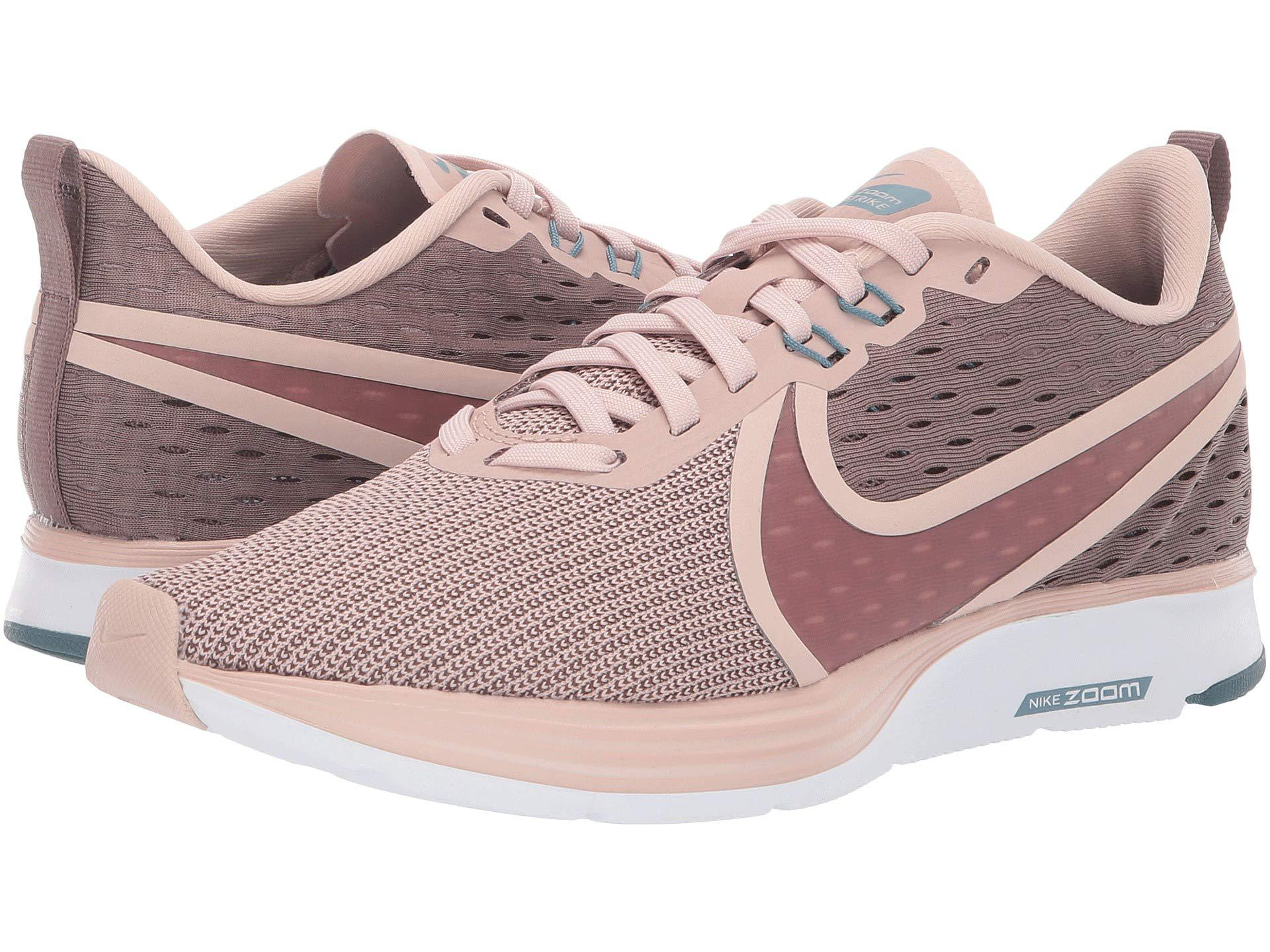 5864b5d5e65 Nike - Multicolor Zoom Strike 2 (particle Beige smokey Mauve) Women s Running  Shoes. View fullscreen