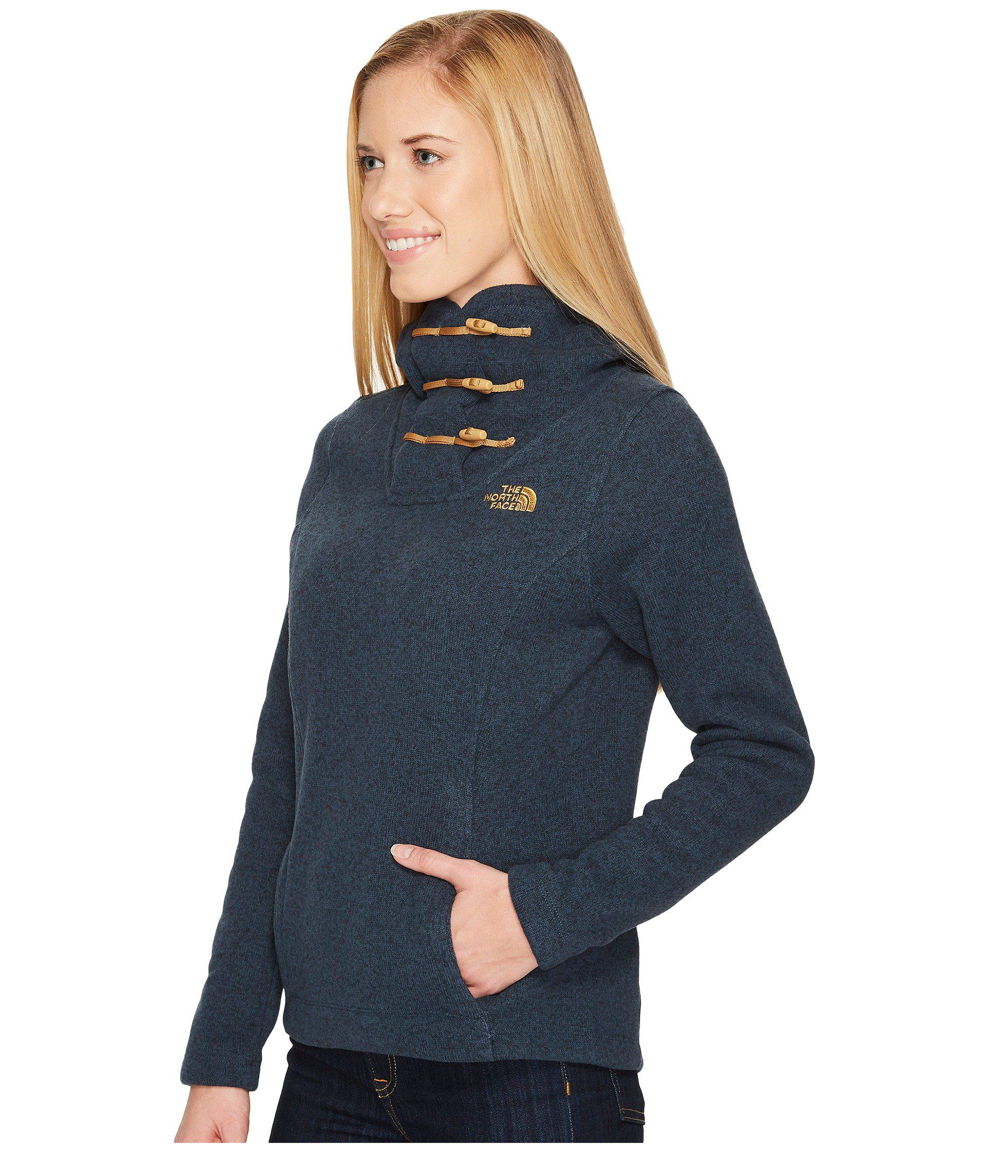40360217b Women's Blue Crescent Hooded Pullover