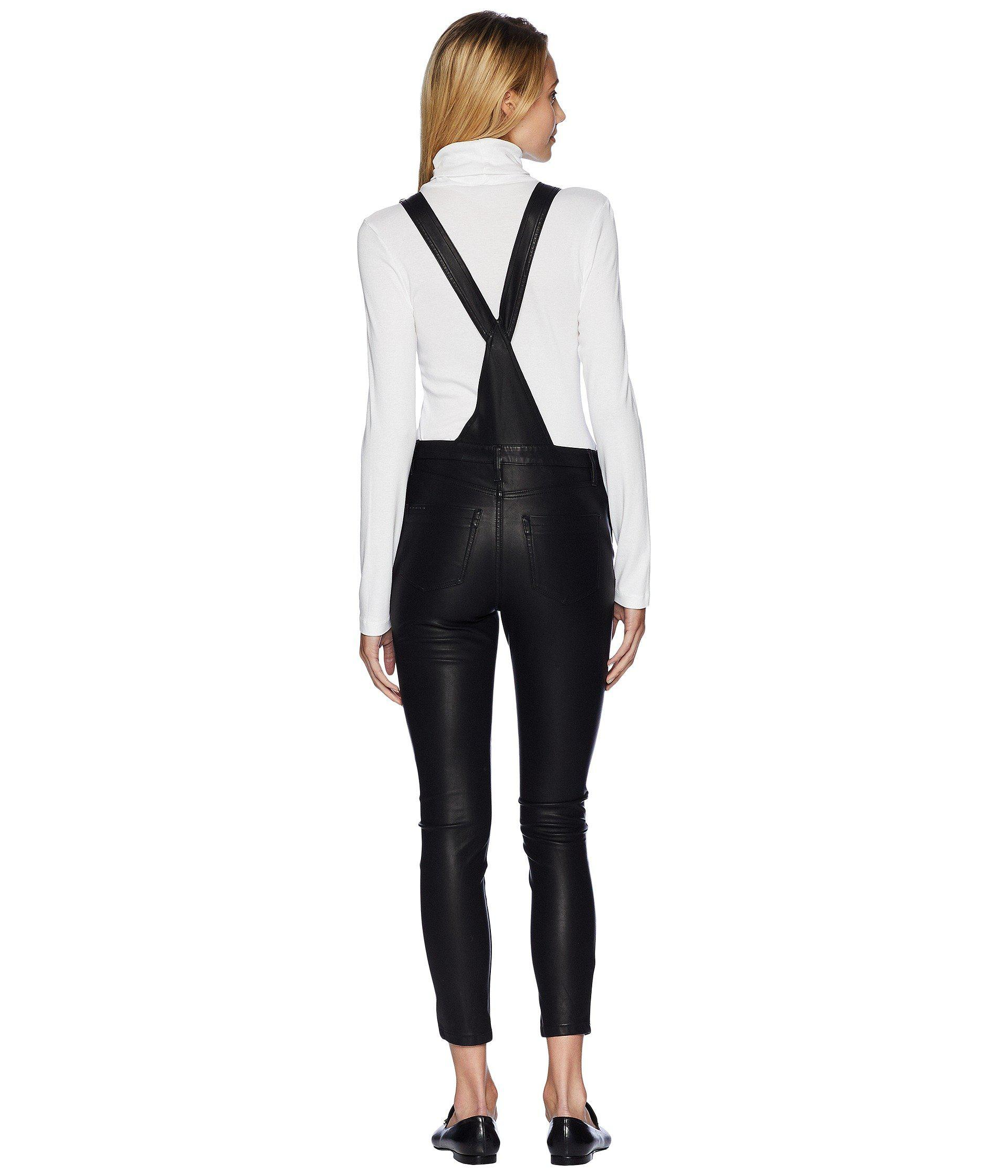 0884ec69b3 Blank NYC Black Vegan Leather Overalls In All Good (all Good ...