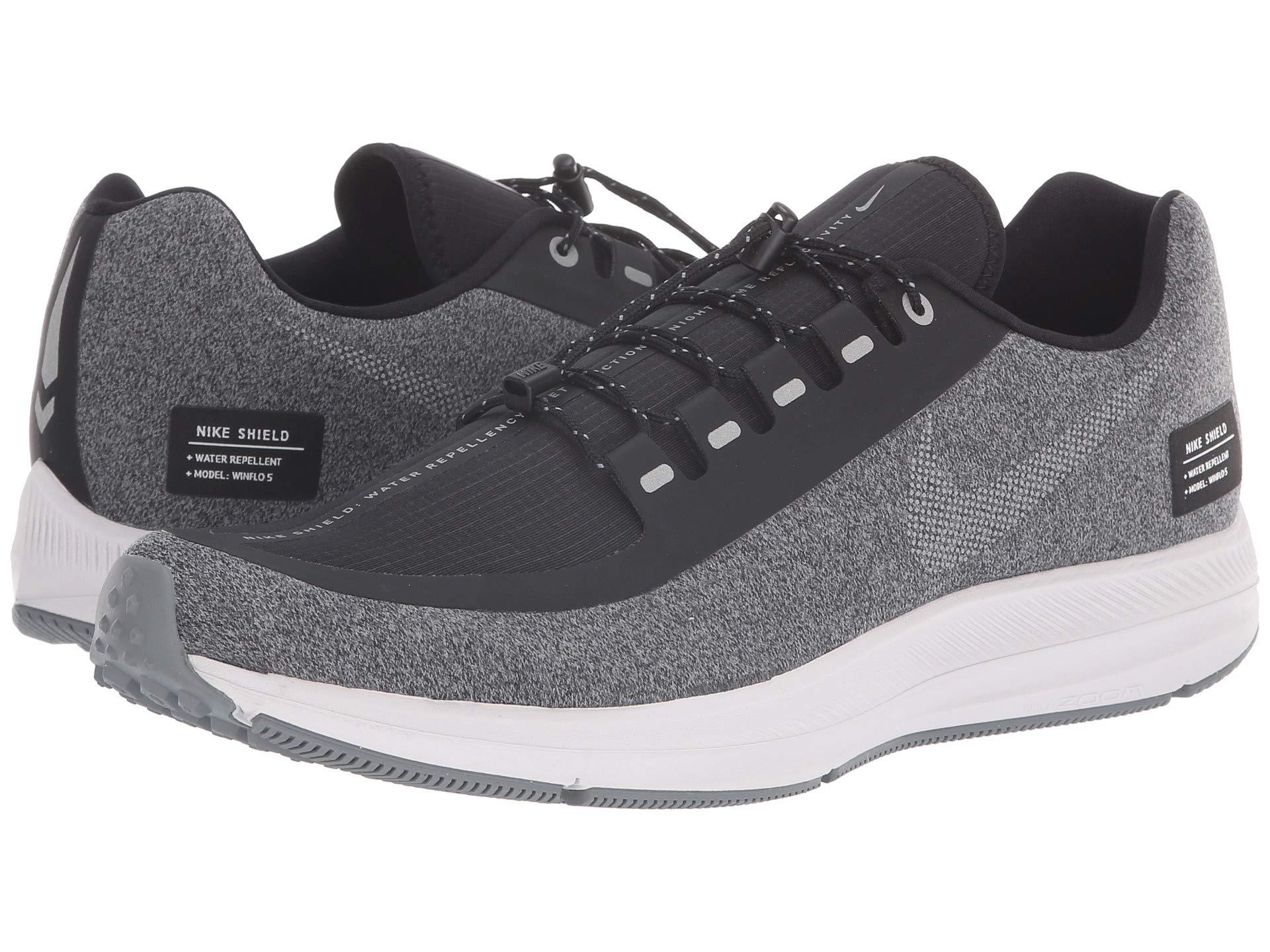 check out bbc38 89355 Air Zoom Winflo 5 Run Shield (black/metallic Silver/cool Grey) Men's  Running Shoes