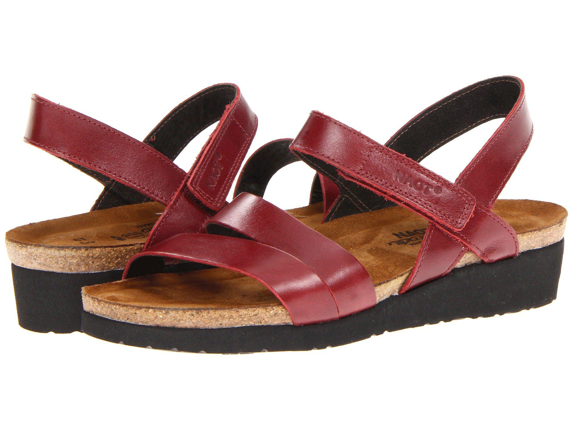 bcebf04ca134 Lyst - Naot Kayla (sea Green Leather) Women s Sandals in Red