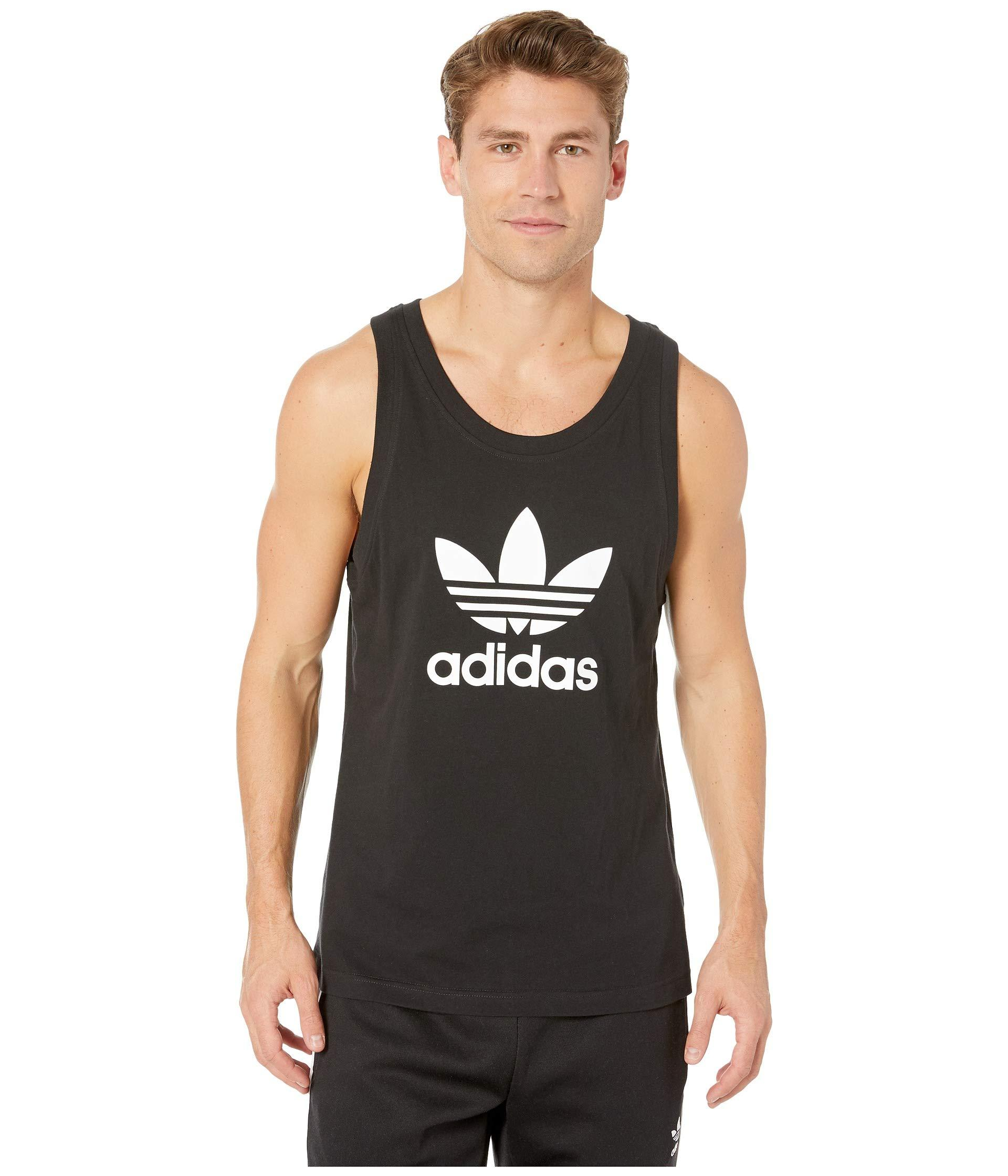 80ea3fb3c08e4e Lyst - adidas Originals Trefoil Tank Top (white) Men s Sleeveless in ...