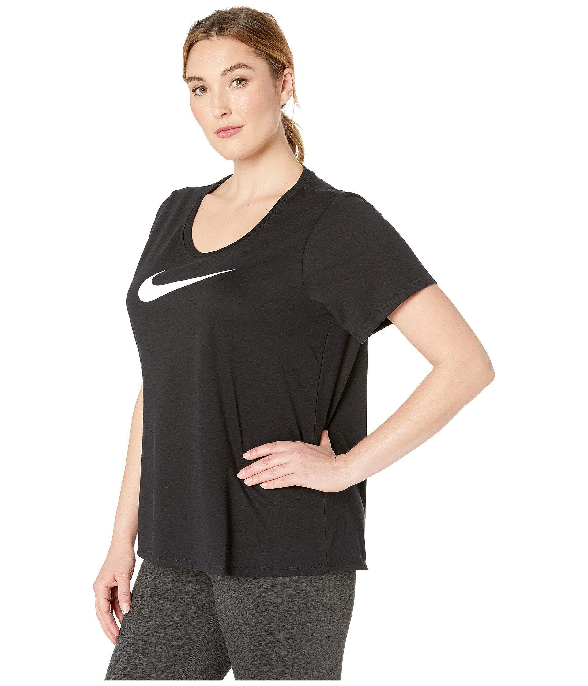 6e33c4a14f9 Lyst - Nike Dry Dri-fittm Short Sleeve Scoop Tee (sizes 1x-3x) (dark ...