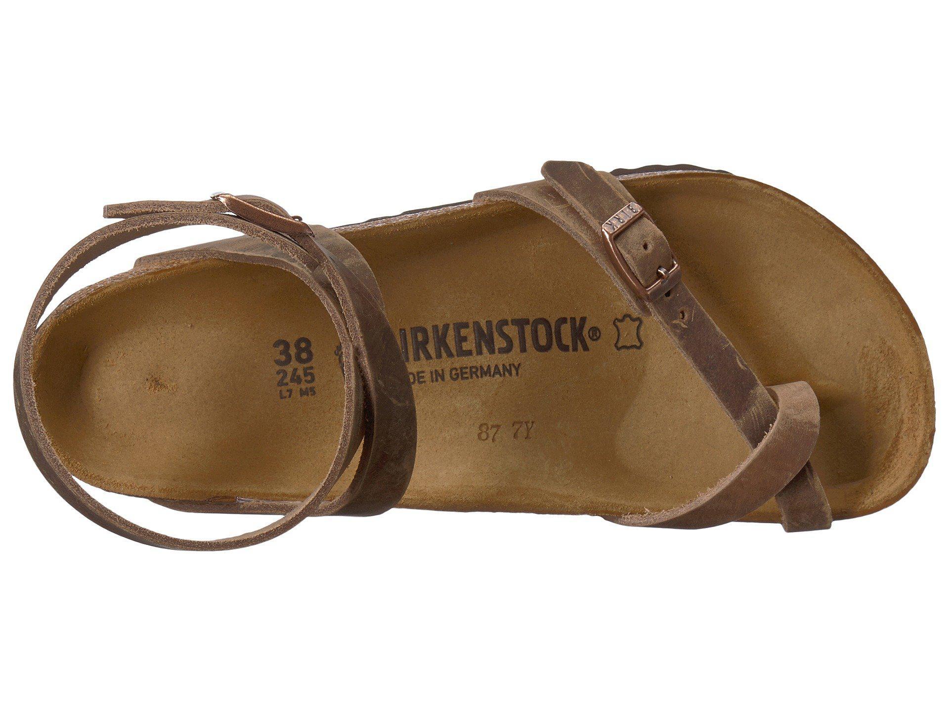 297b829e81814 Birkenstock - Brown Yara (habana Oiled Leather) Women s Sandals - Lyst.  View fullscreen