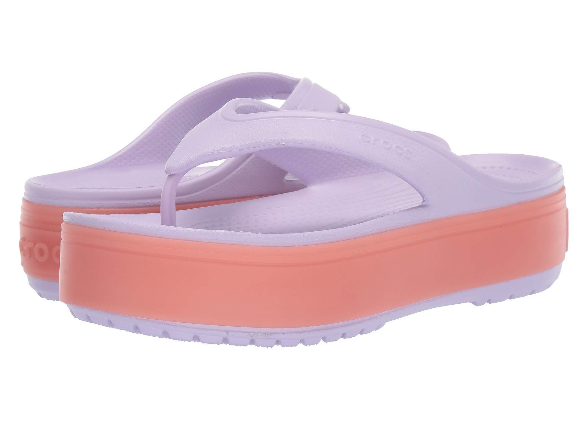 49f2435da722 Lyst - Crocs™ Crocband Platform Flip (light Grey rose) Sandals in Purple