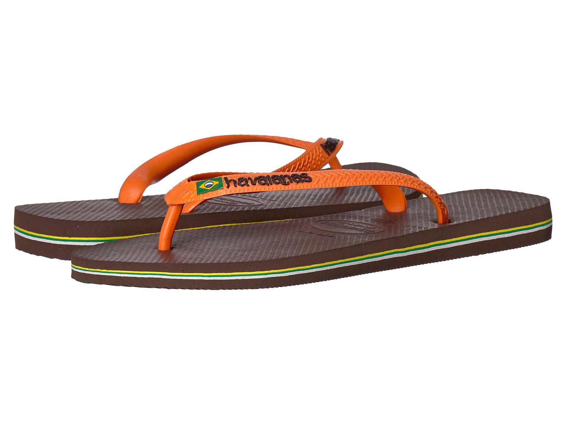 056d4a18a1 Lyst - Havaianas Brazil Logo Flip Flops (red) Men s Sandals in Brown ...