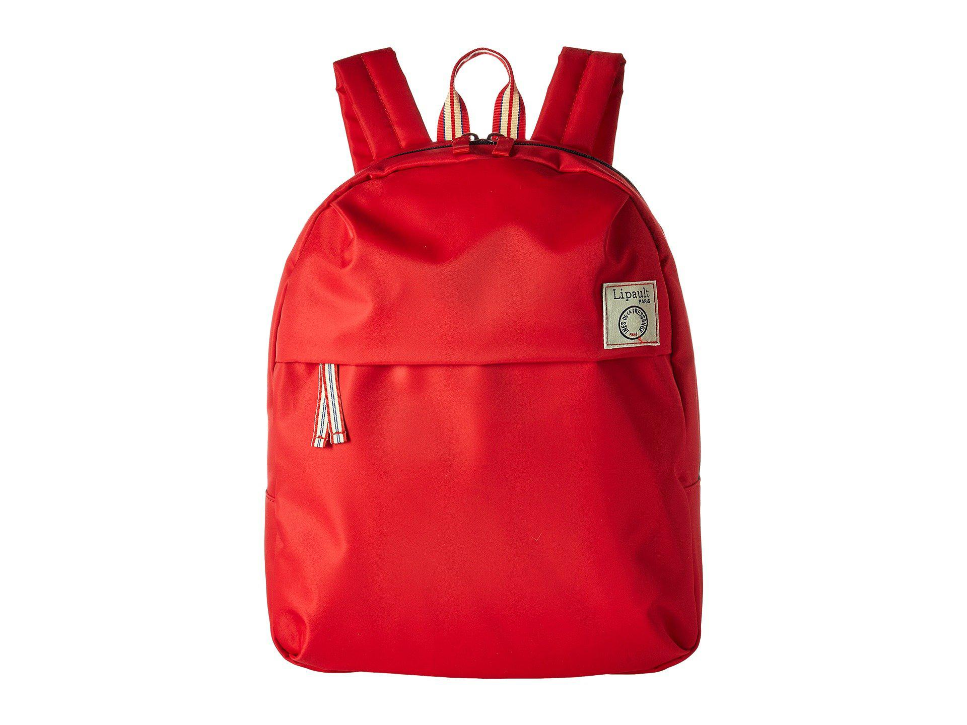Lyst - Lipault Ines De La Fressange Medium Backpack (red) Backpack ... f63c1e2d5e950