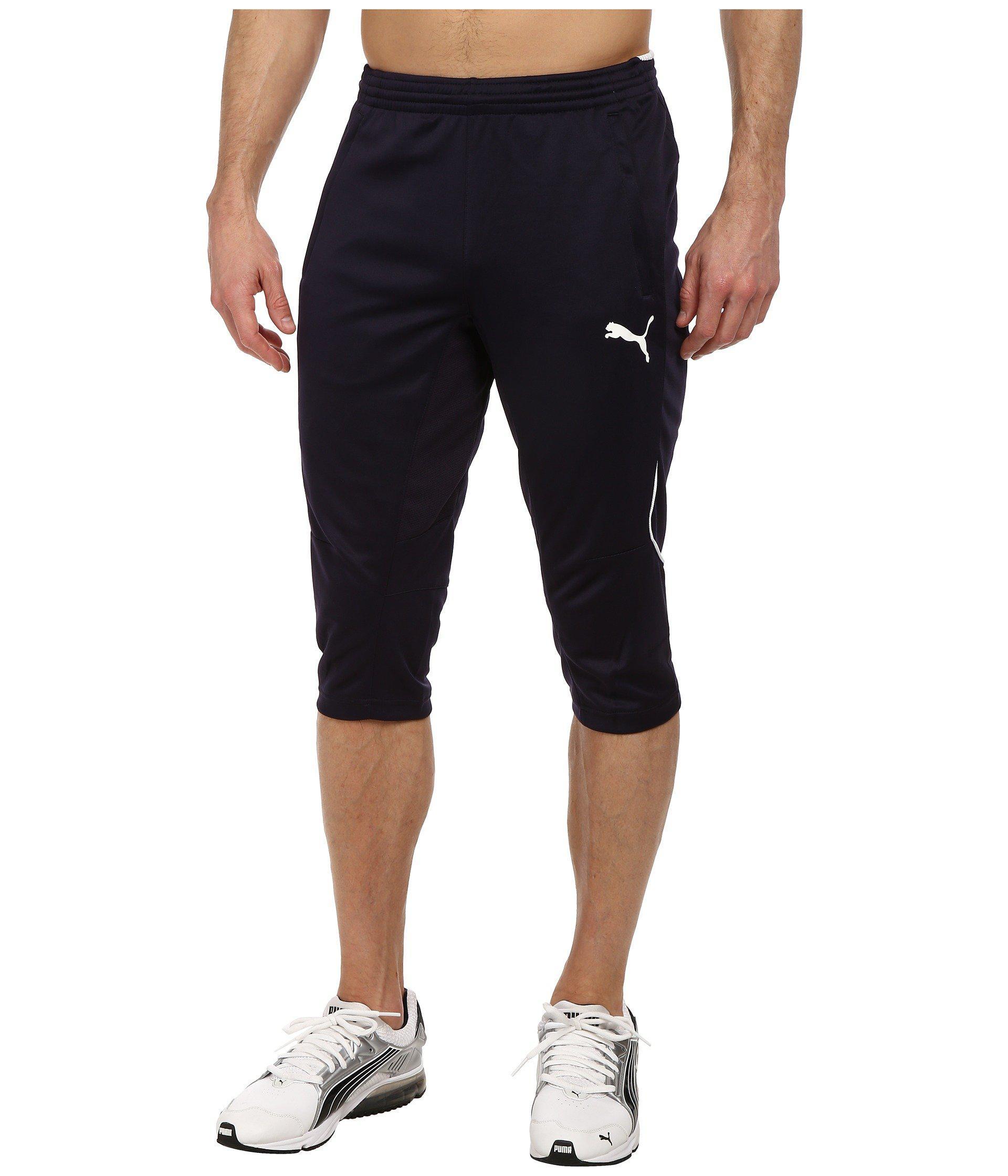 PUMA Synthetic 3/4 Training Pant (black/white) Men's Casual Pants ...