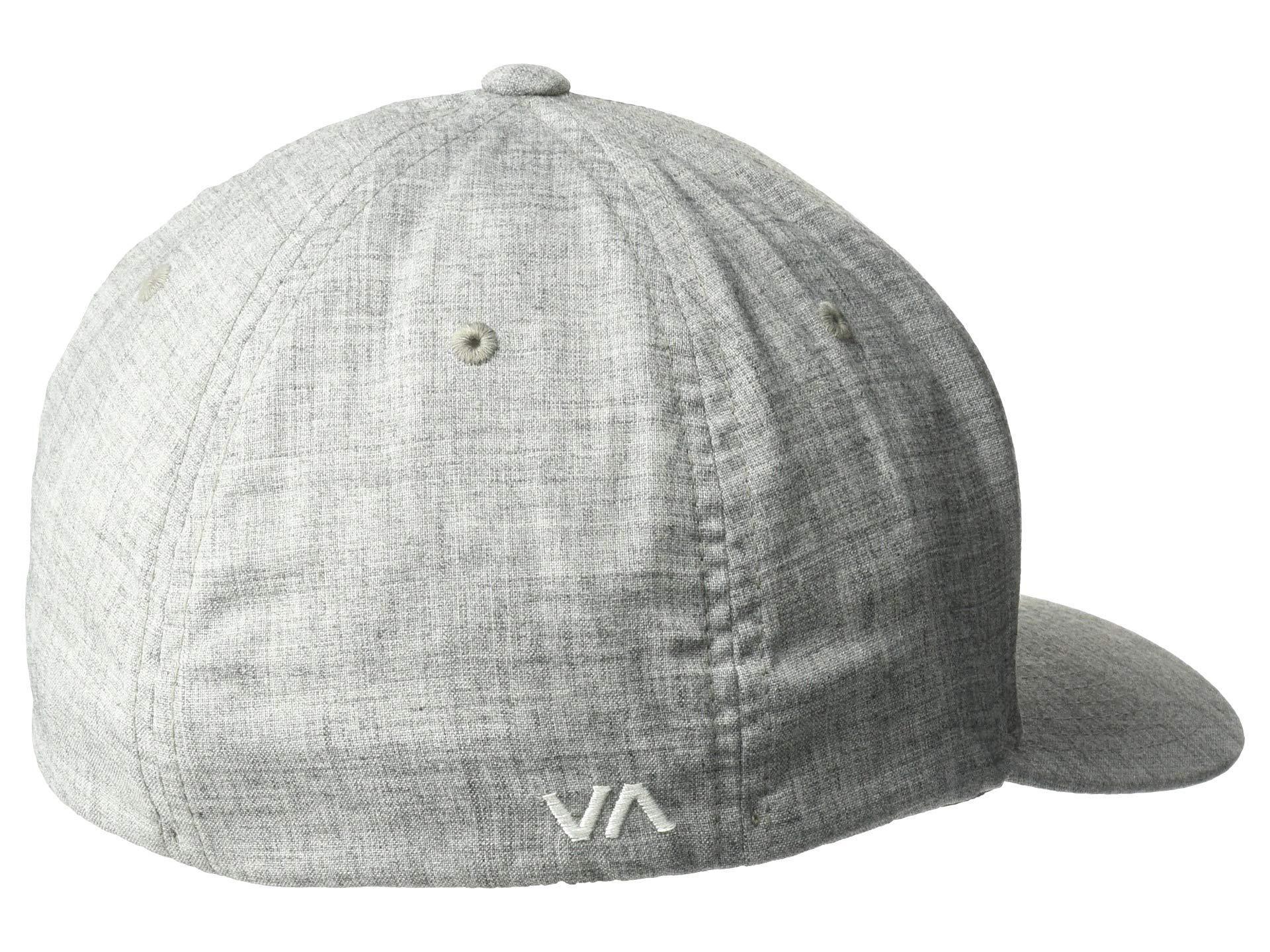 d31491c2 RVCA - Gray Scores Flexfit Hat (black) Baseball Caps for Men - Lyst. View  fullscreen