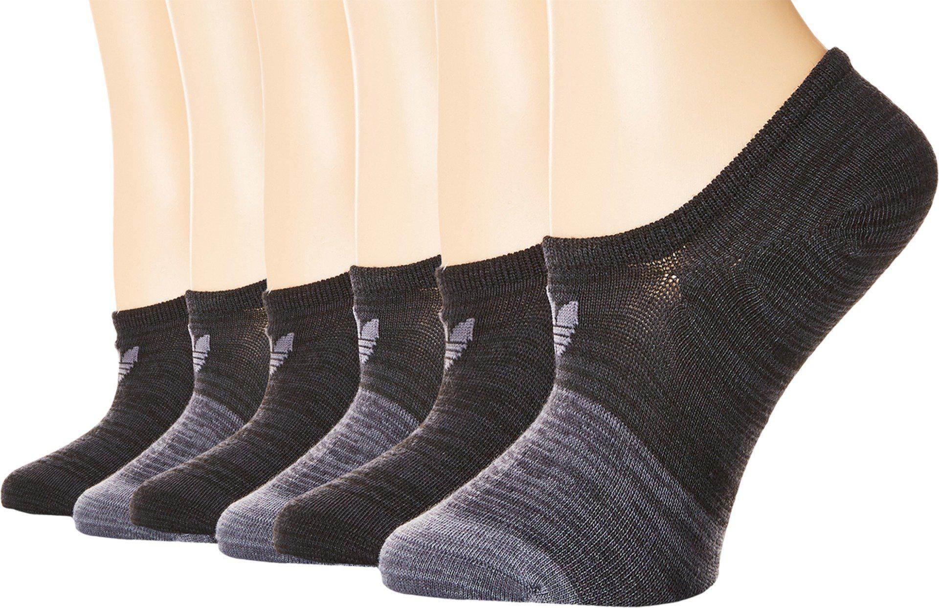 2624a28272 Women's Black Originals Blocked Space Dye Super No Show Sock 6-pack