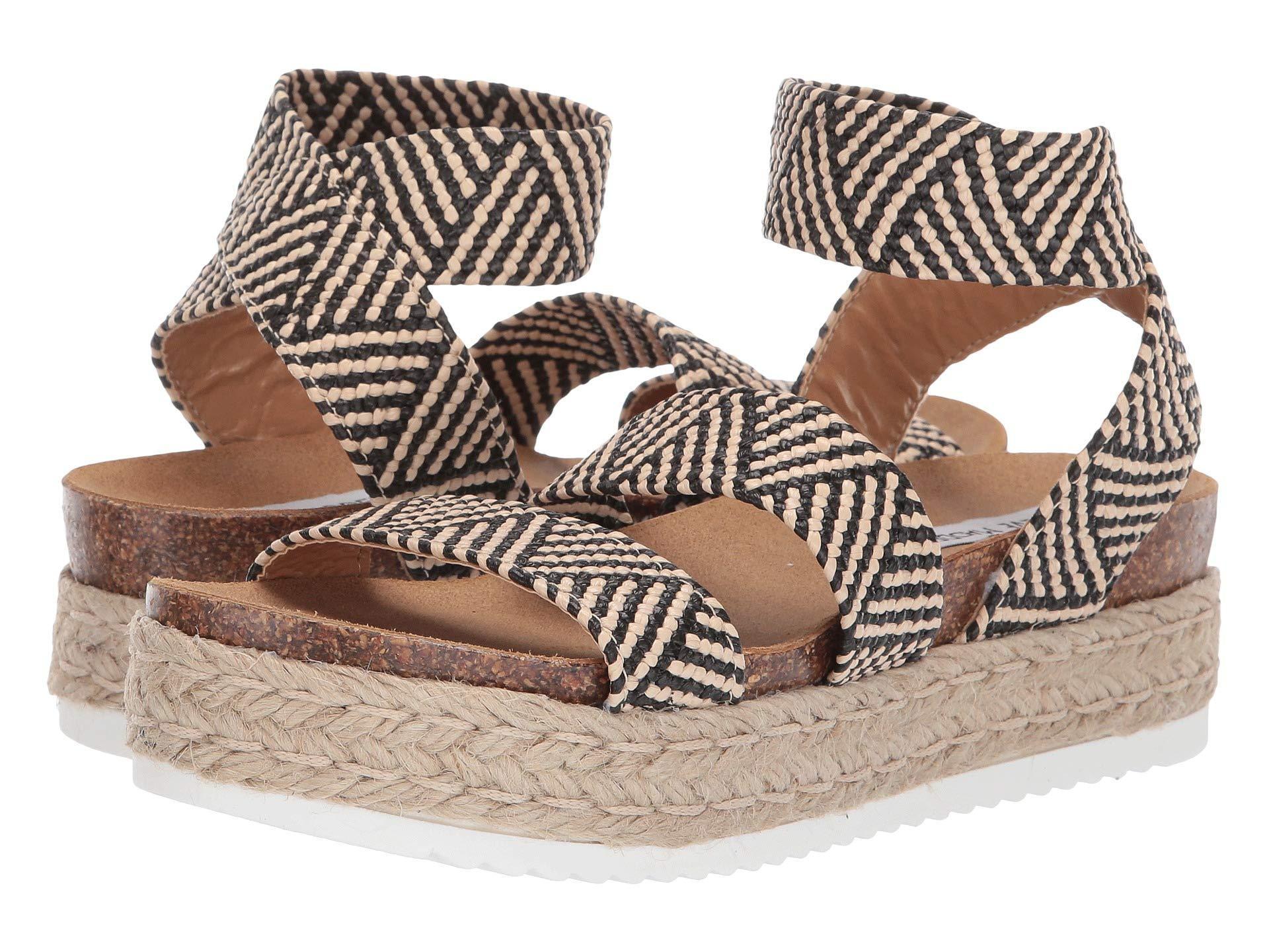 783f19818c3 Lyst - Steve Madden Kimmie Espadrille Sandal (black Multi) Women s Shoes