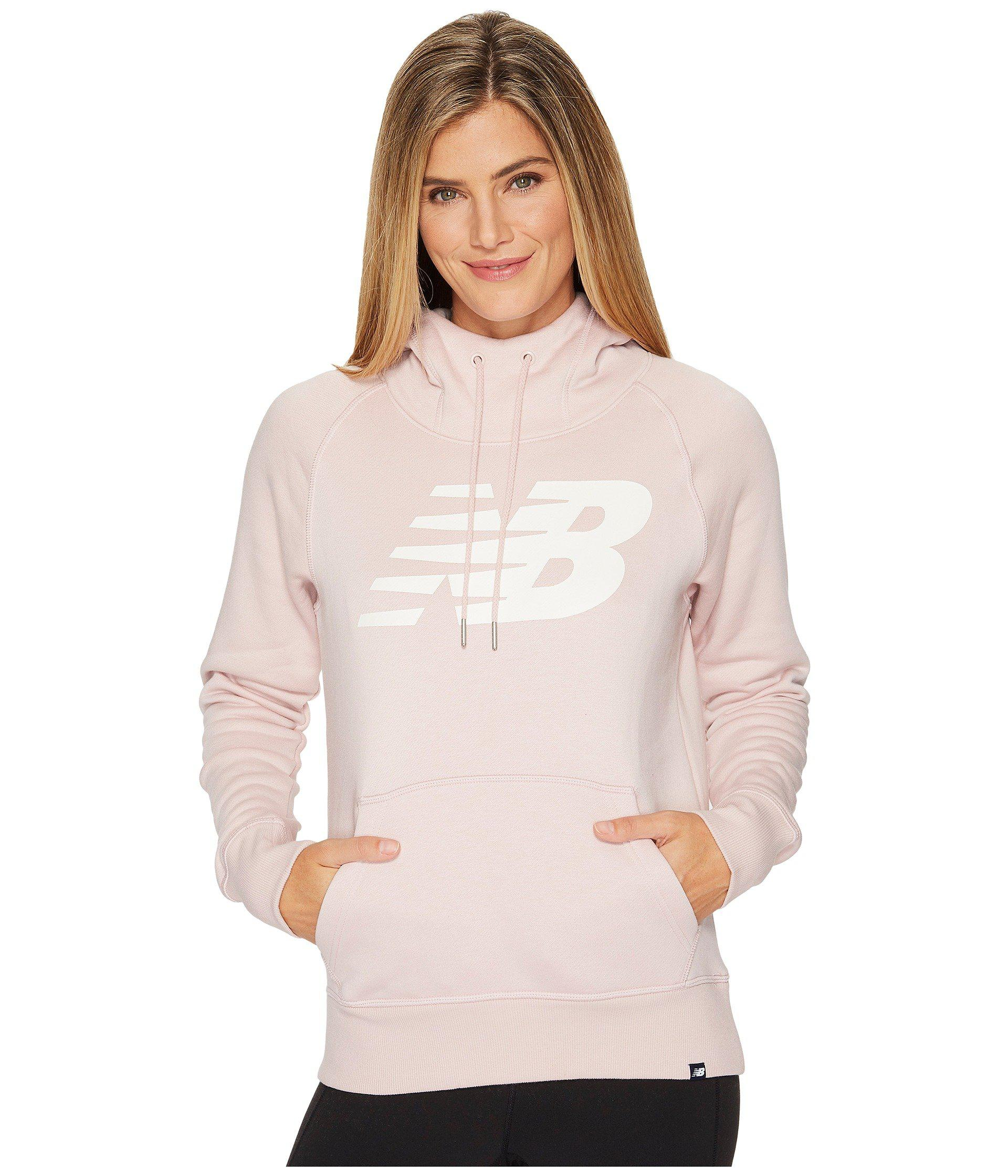 new balance pink hoodie