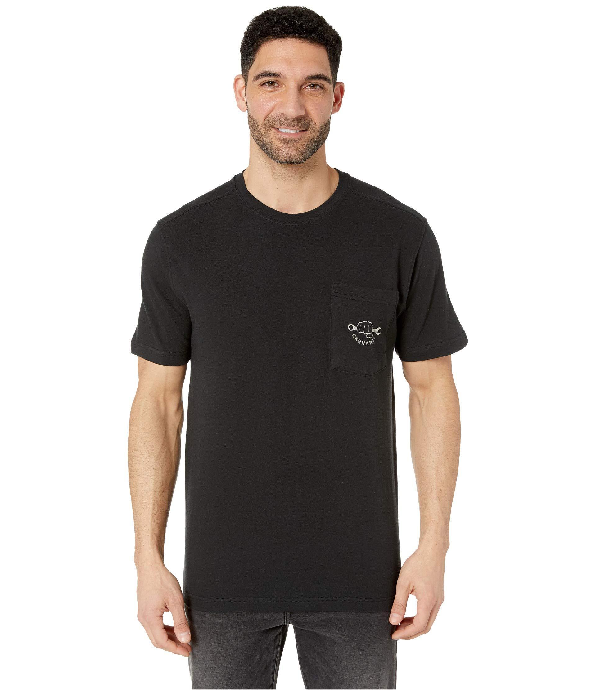 1ad6717329 Carhartt Maddock Strong Graphic Pocket Short Sleeve T-shirt (black) Men's T  Shirt for men