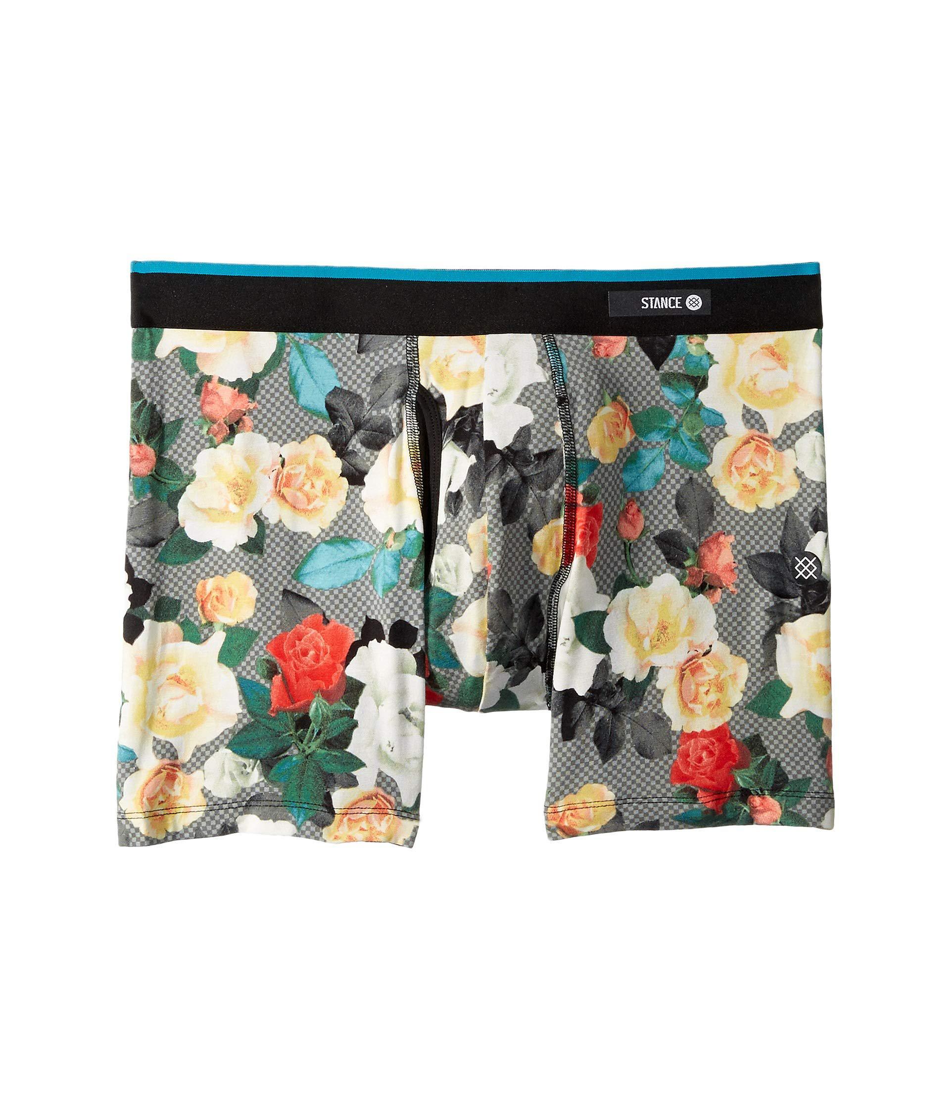 e7232463ffece Stance Floral Program Boxer Brief (black) Men's Underwear in Black ...