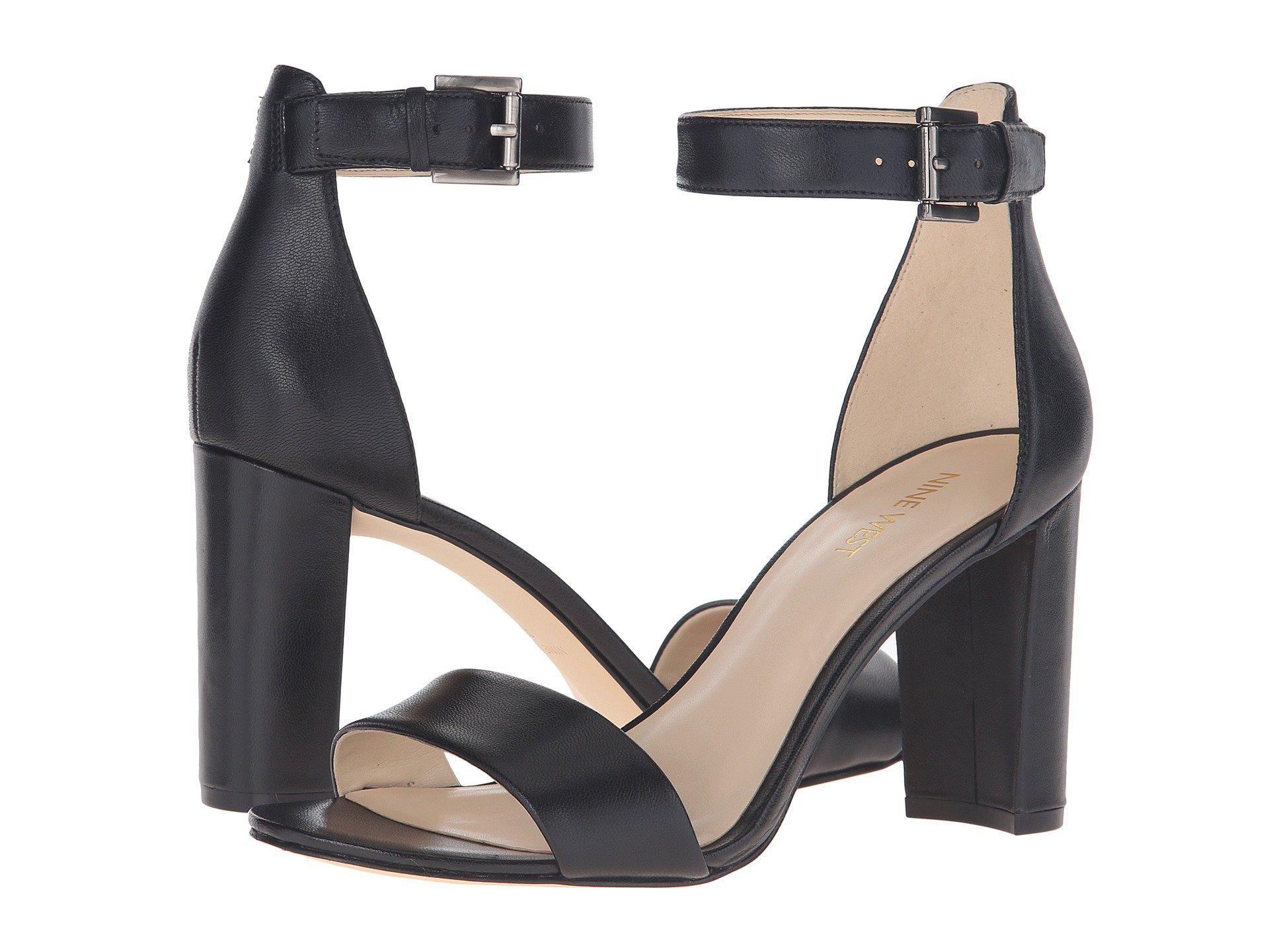 Nine West Nora Block Heel Sandal (black