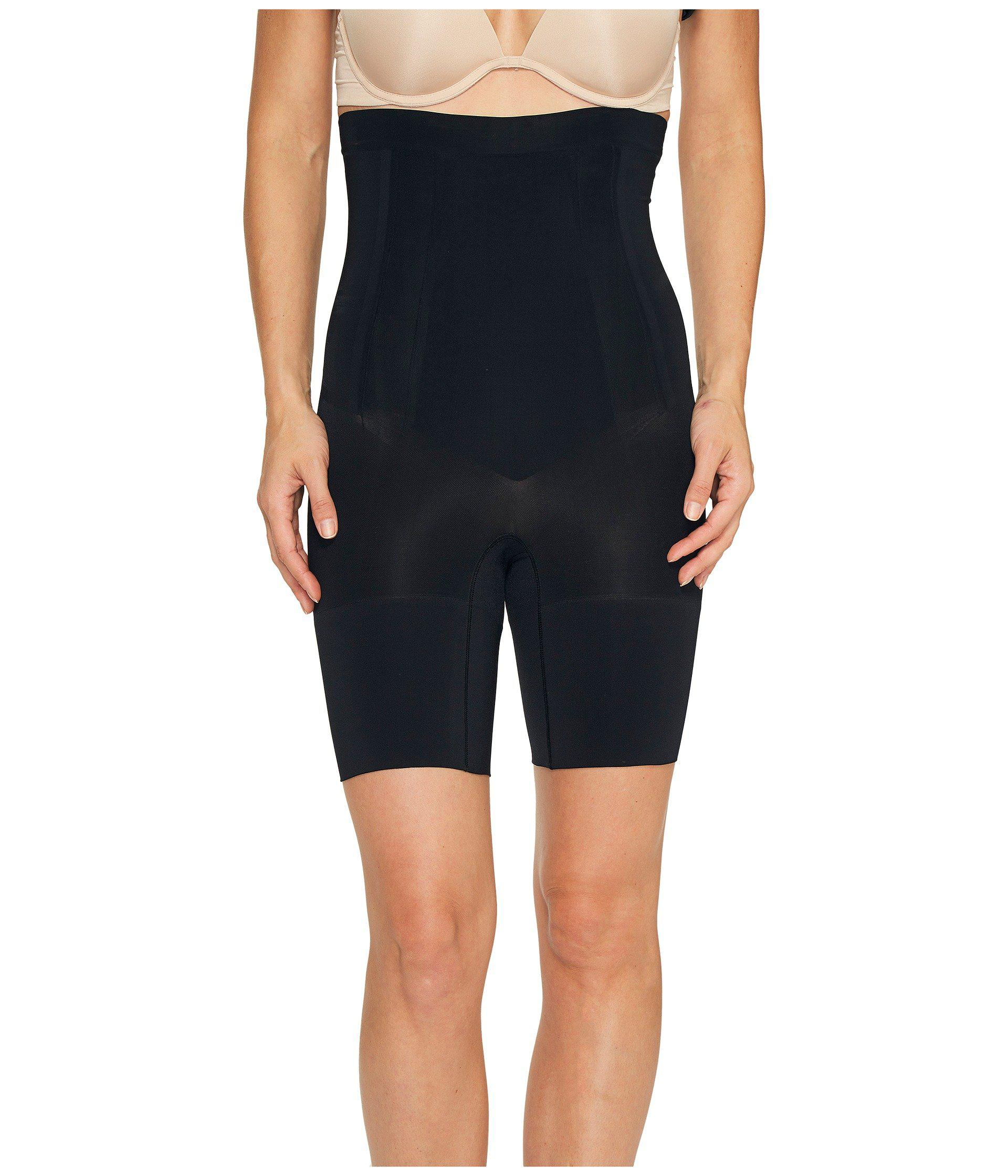 8f3436d9f1 Lyst - Spanx Oncore High-waisted Mid-thigh Short (very Black ...