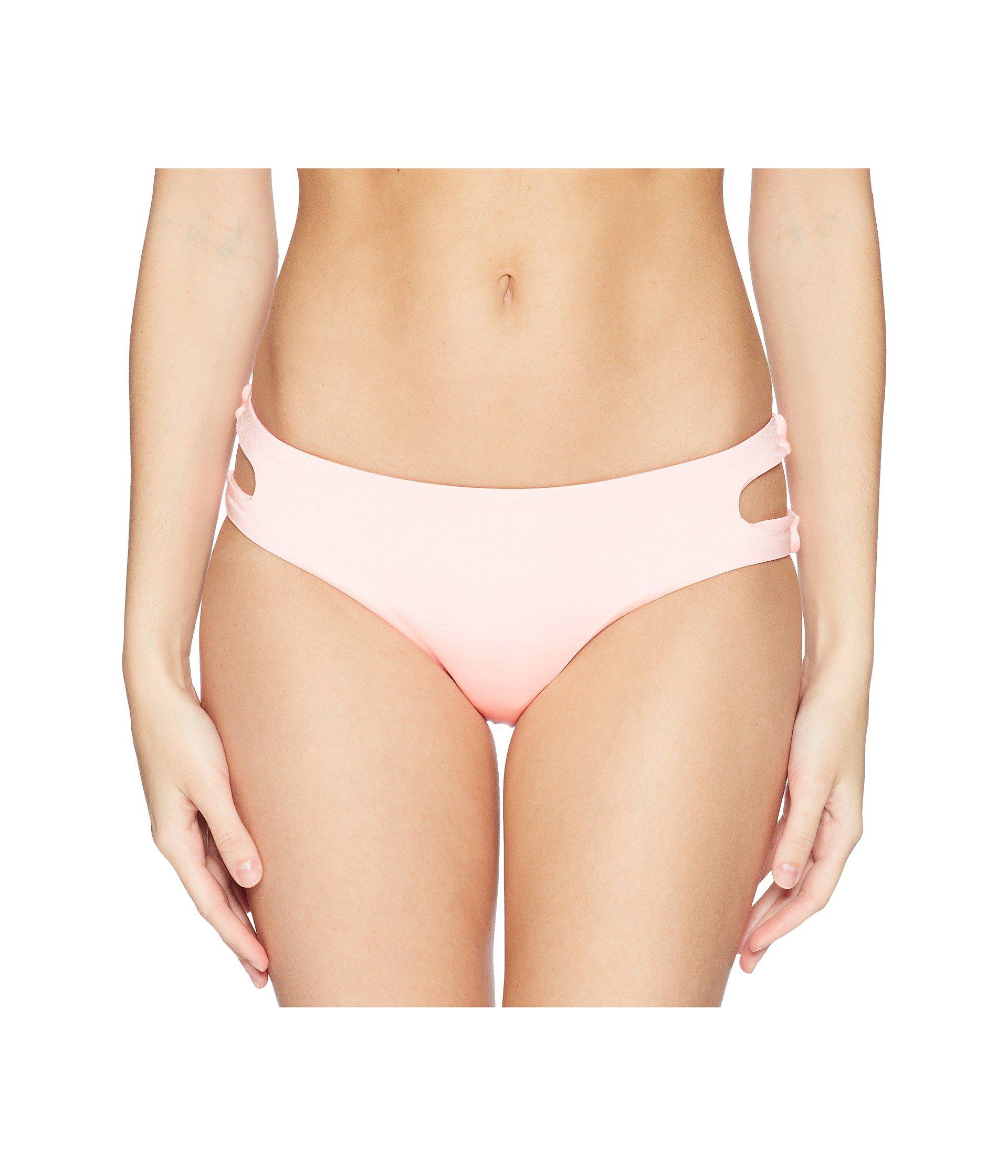 17395a6f63 The Bikini Lab. Pink Solid Cutout Hipster Bikini Bottom (blue) Women s  Swimwear