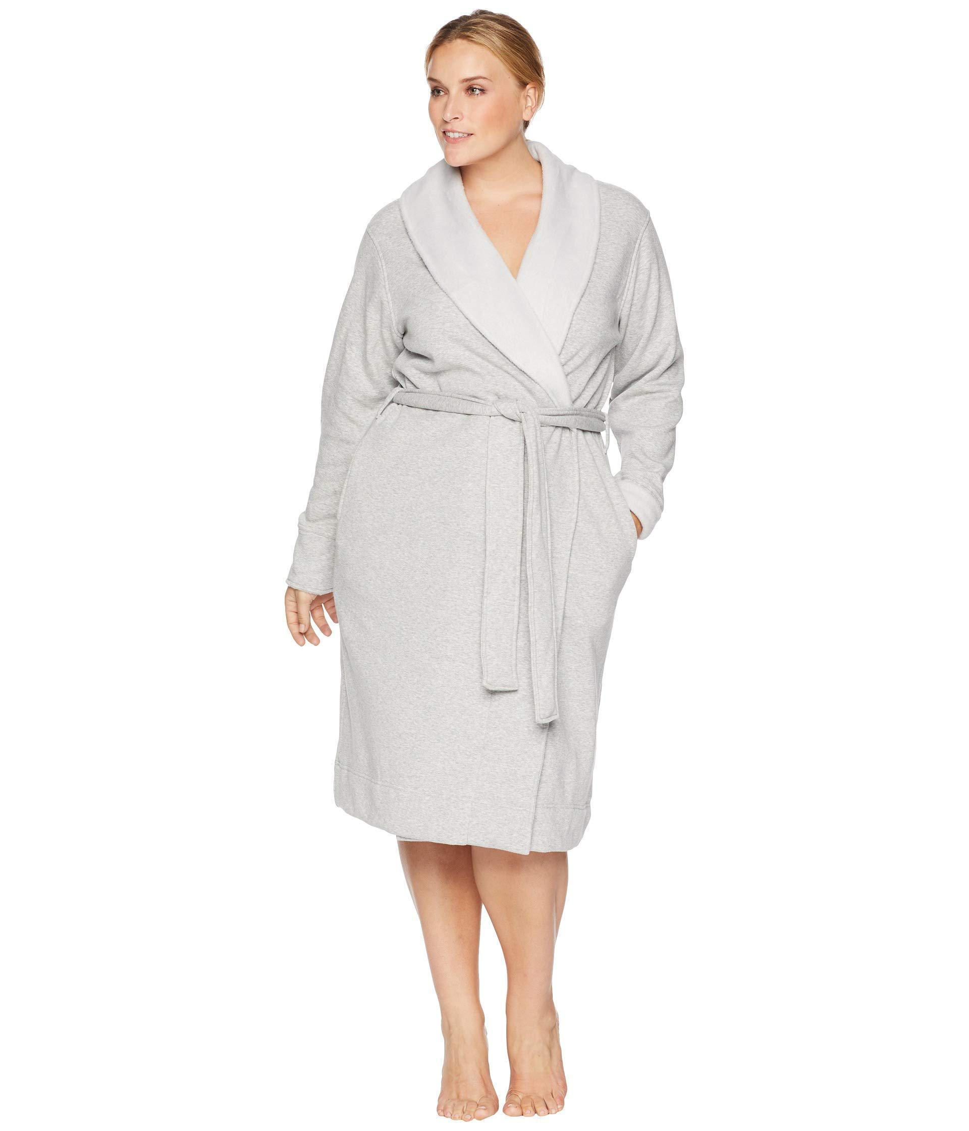 d652c15d4e5 Gray Plus Size Duffield Ii Robe (black Bear Heather) Women's Robe