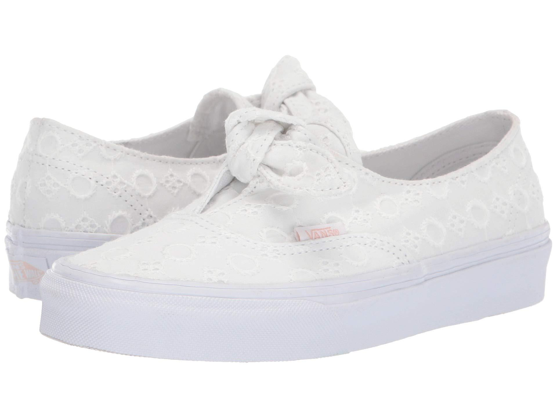Vans Canvas Authentic Knotted in White