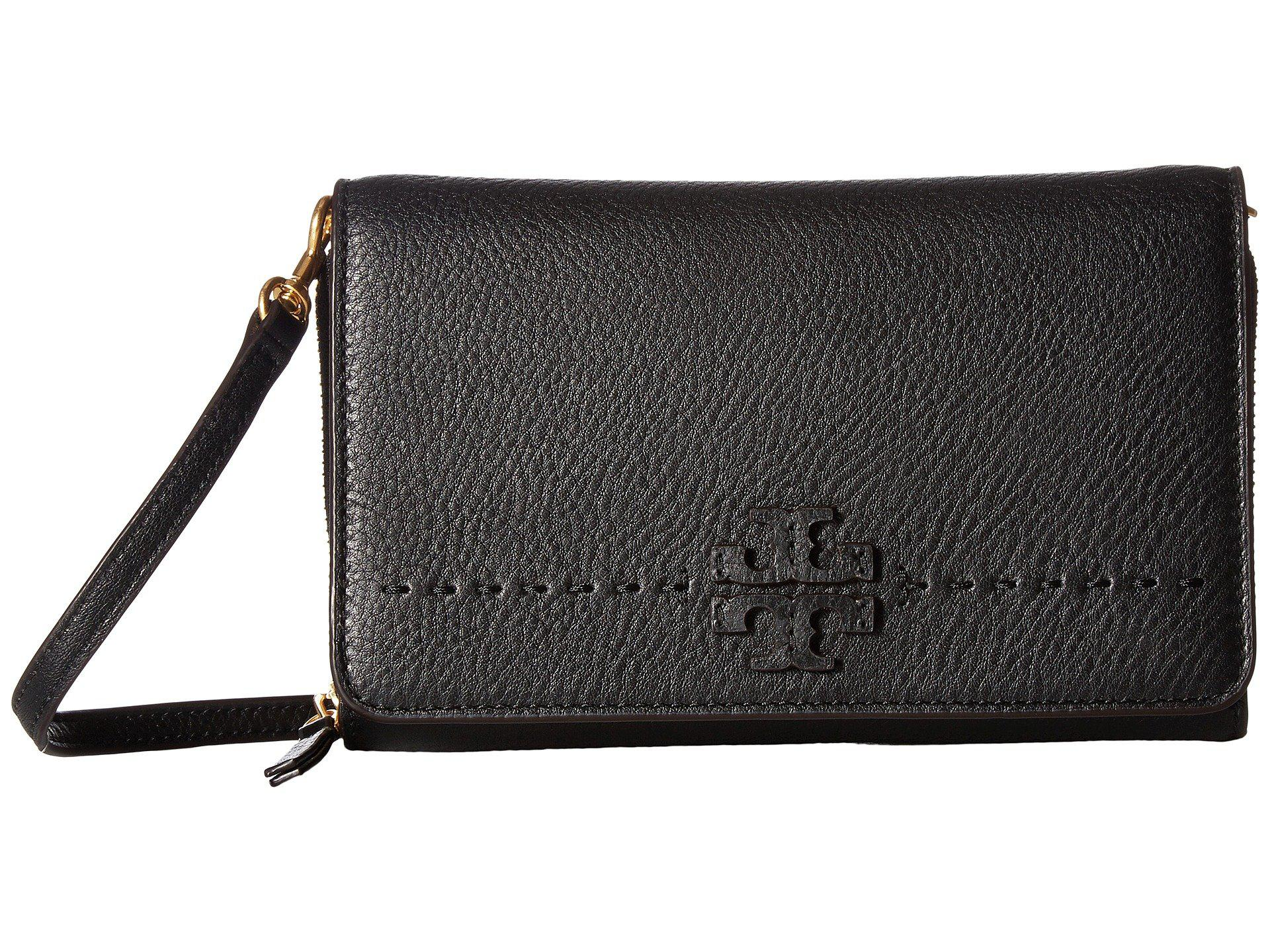 Tory Burch McGraw metallic flat wallet cross-body bag 2018 New For Sale Inexpensive Very Cheap For Sale Cheap Footlocker Pictures ZXjBm