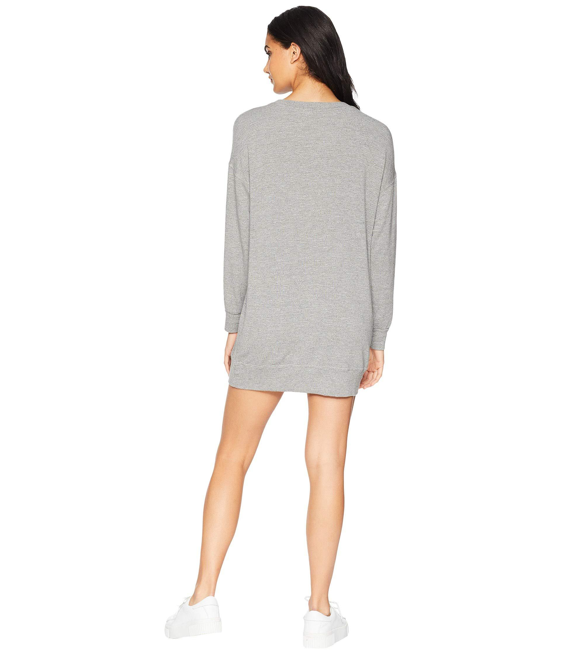 Lyst - Splendid Dream Slub Courtside Sweatshirt Dress (heather Grey ... a86750f33b