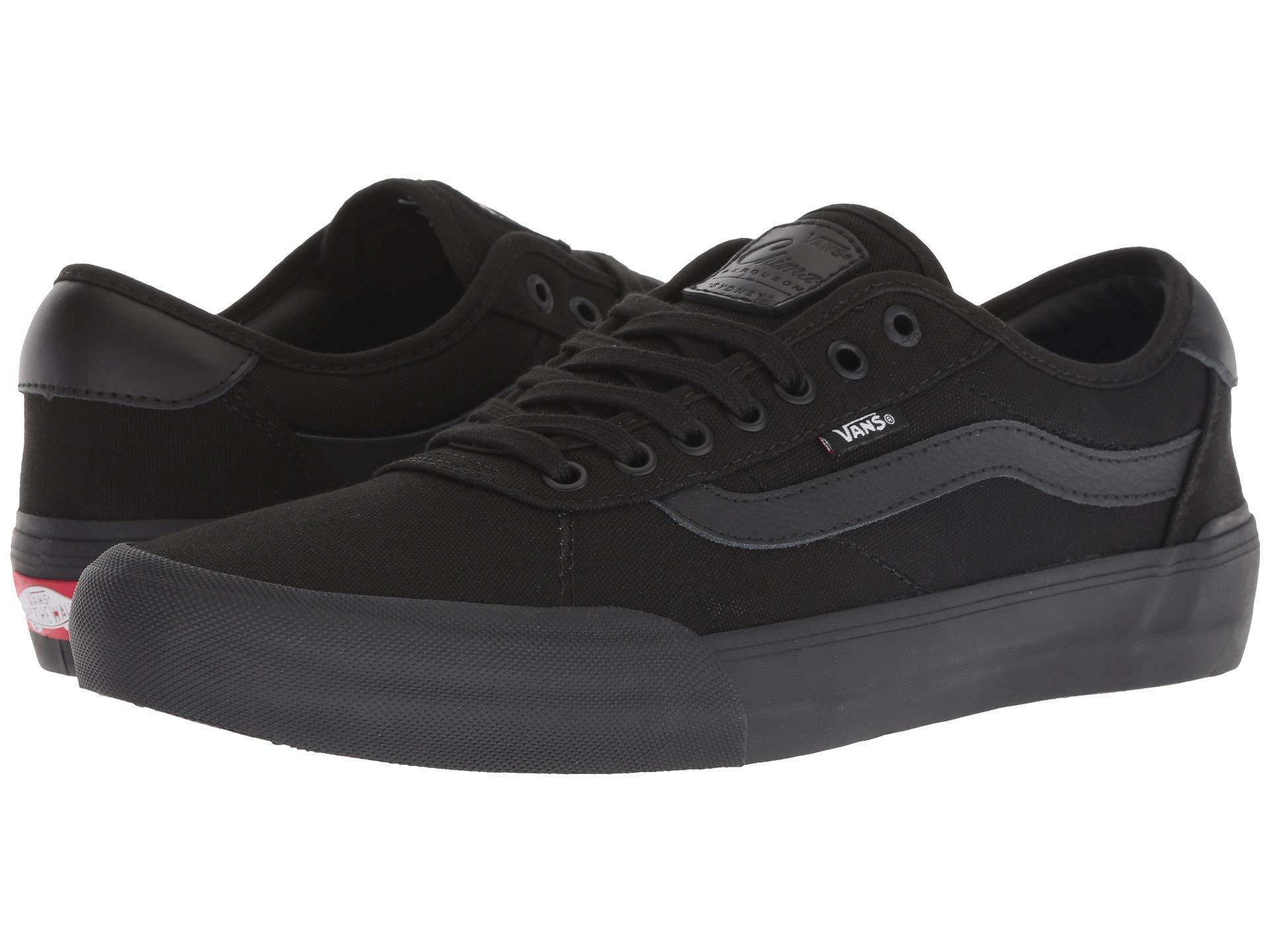 Lyst - Vans Chima Pro 2 ((suede canvas) Black white) Men s Skate ... 031f7c38f
