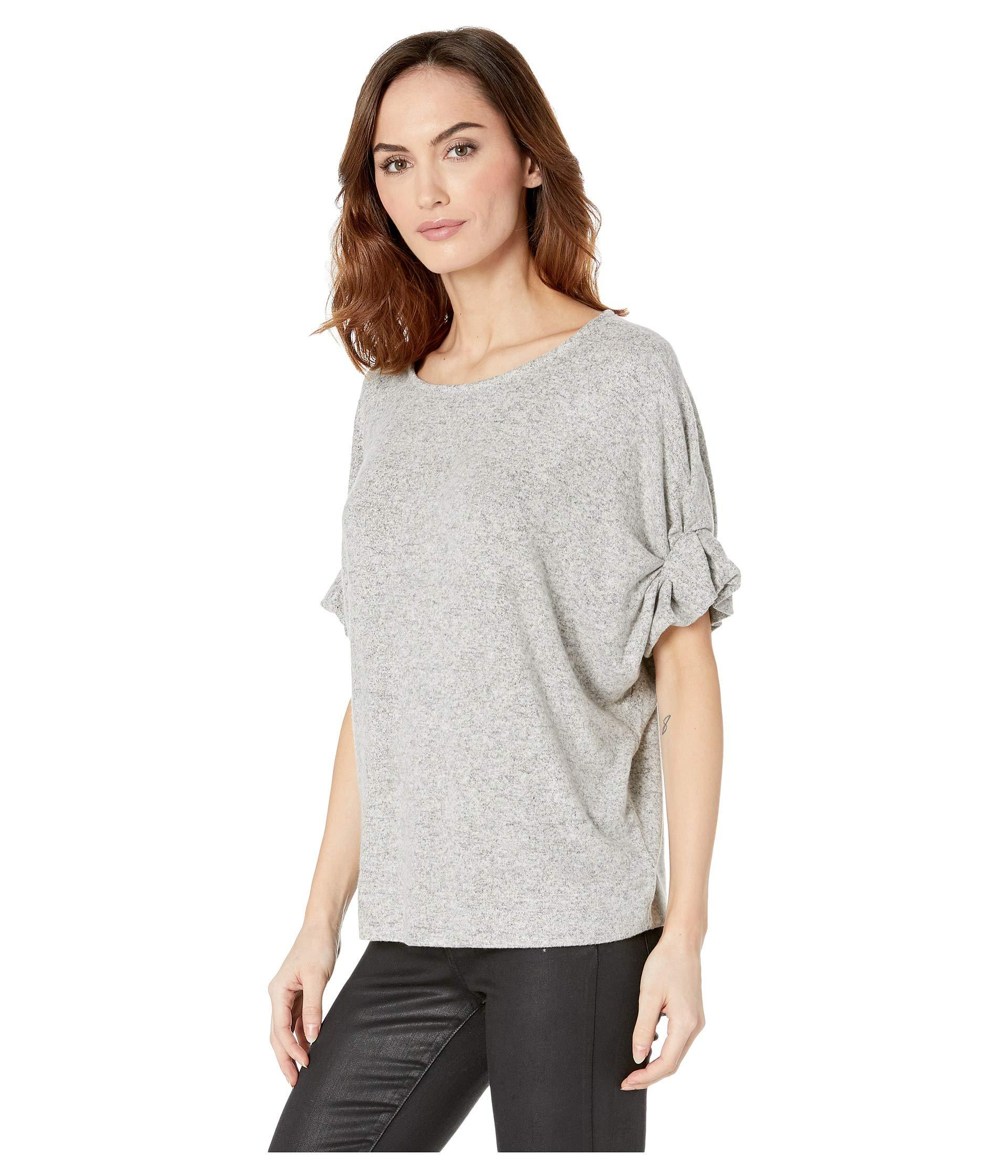 774c0c23 B Collection By Bobeau Laney Roll Sleeve Tee (heather Grey) Women's T Shirt  in Gray - Lyst