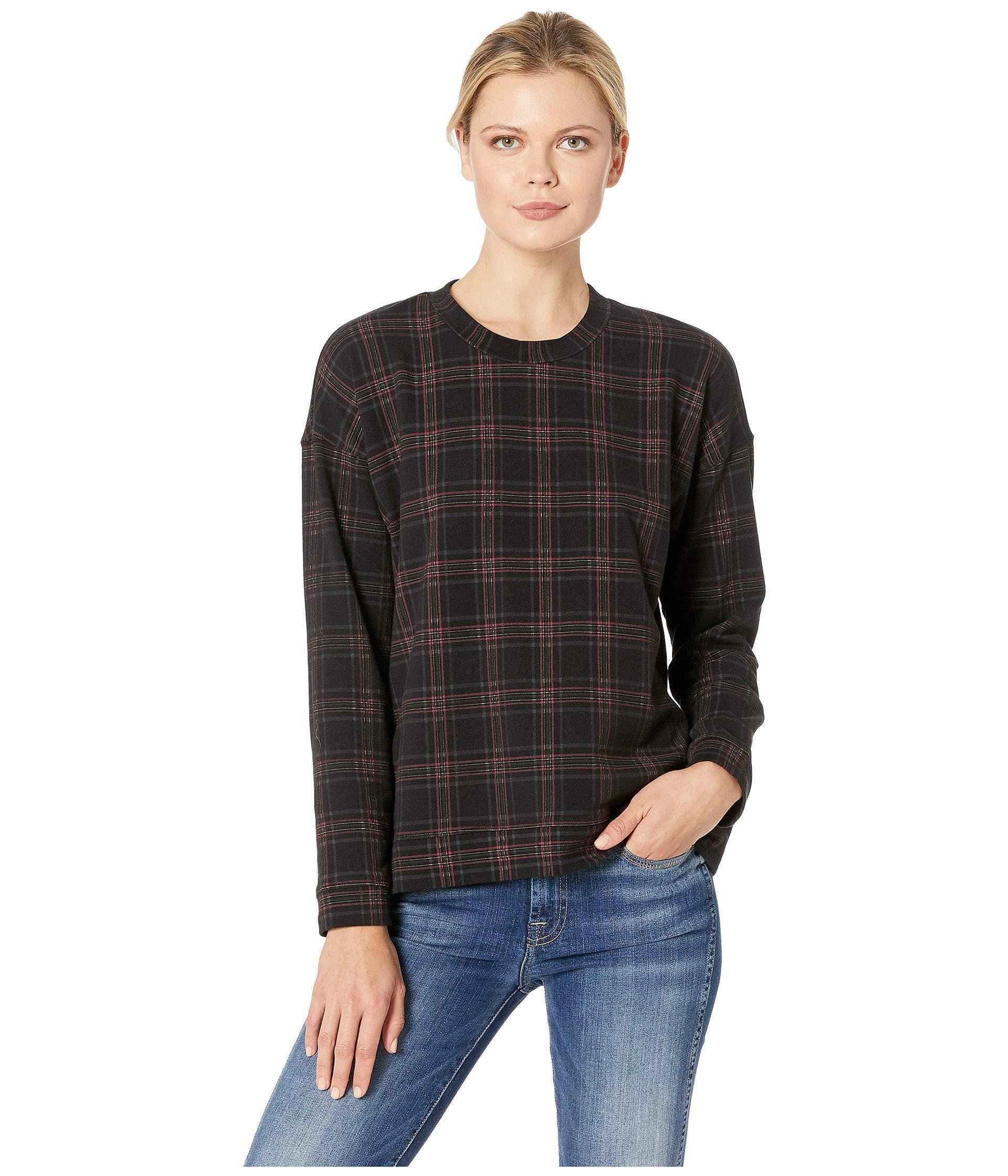 1fa587b0b4647 Lyst - Kenneth Cole Printed Sweatshirt (road Plaid Black) Women s ...