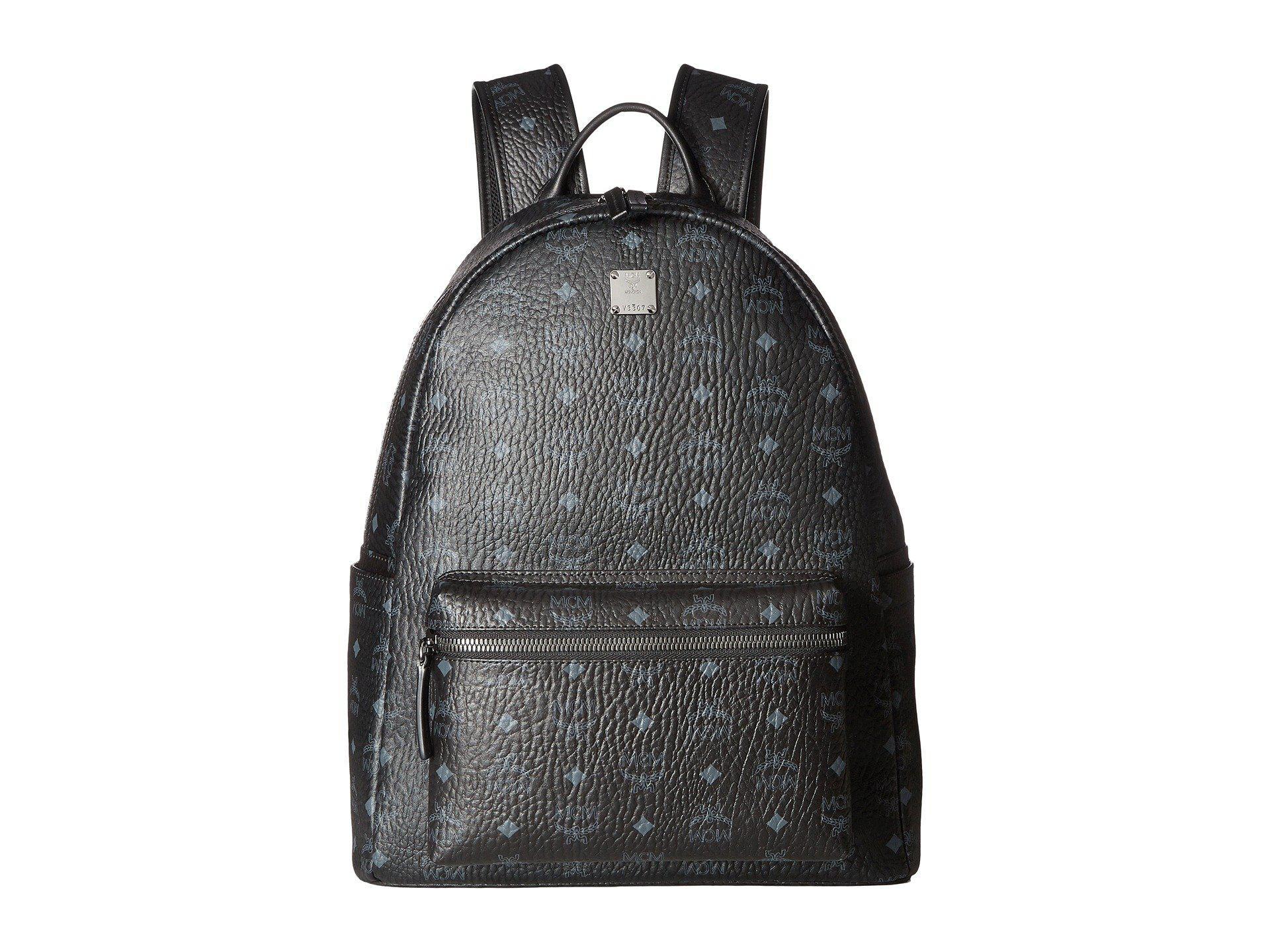 Lyst - MCM Stark No Stud Medium Backpack (red white) Backpack Bags ... e458717c87758