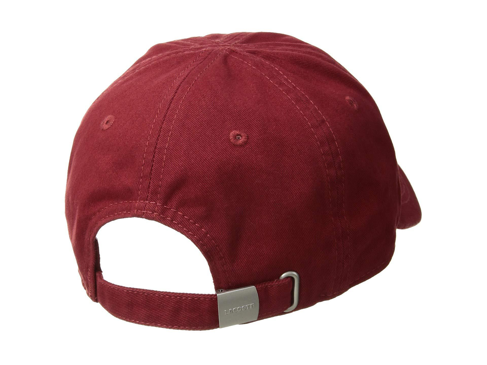 2ae713dc576 Lacoste - Red Big Croc Gabardine Cap (vertigo) Baseball Caps for Men -  Lyst. View fullscreen